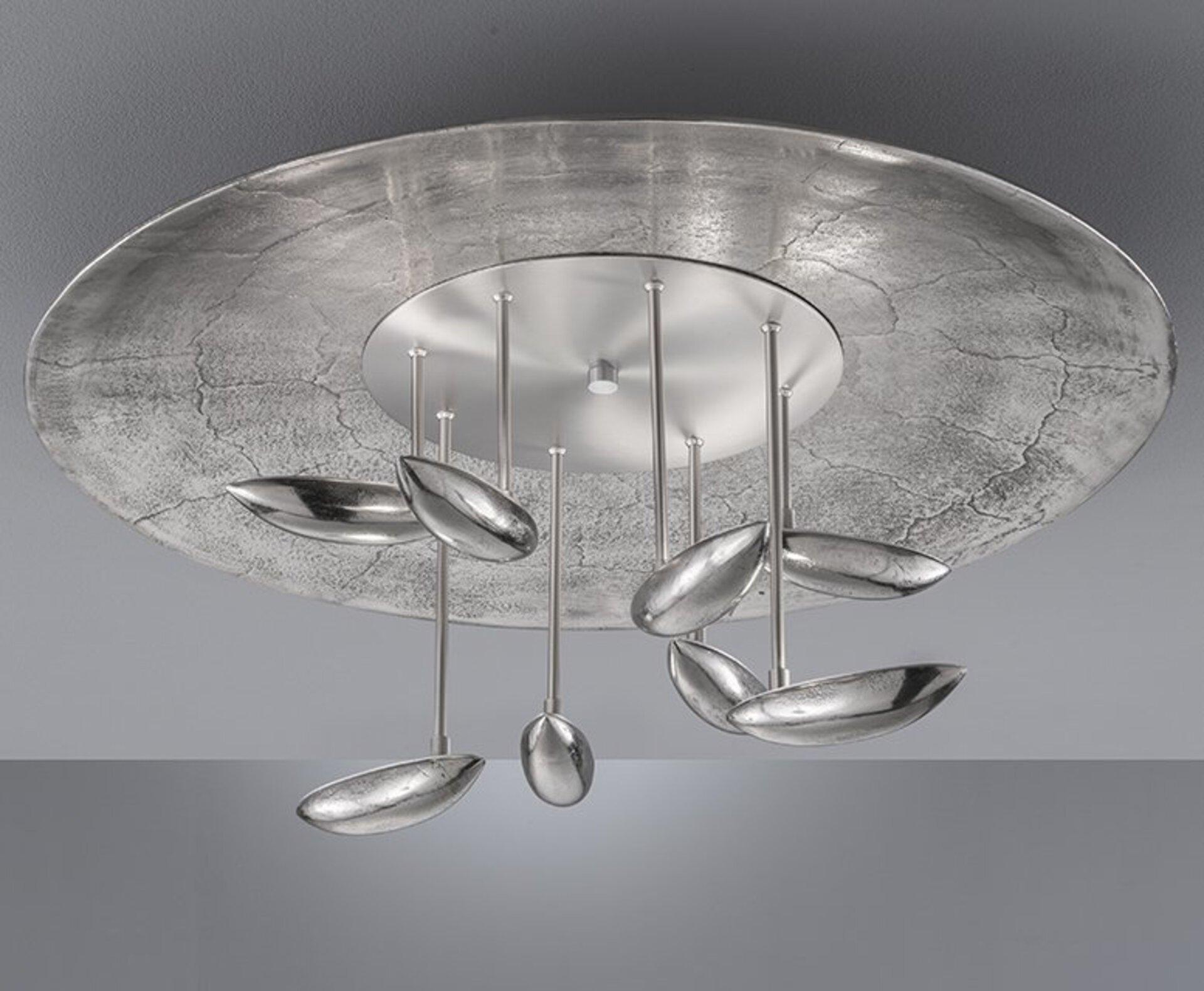Deckenleuchte Pau Fischer-Honsel Metall silber 75 x 34 x 75 cm