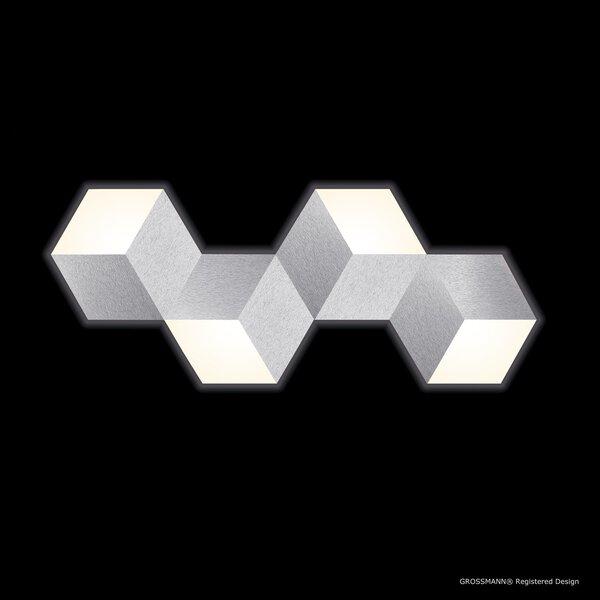Deckenleuchte Grossmann  Metall alu ca. 40 cm x 4 cm x 99 cm