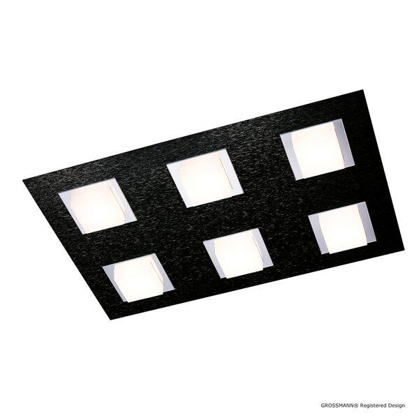 Deckenleuchte Grossmann  Metall schwarz ca. 30 cm x 5 cm x 45 cm