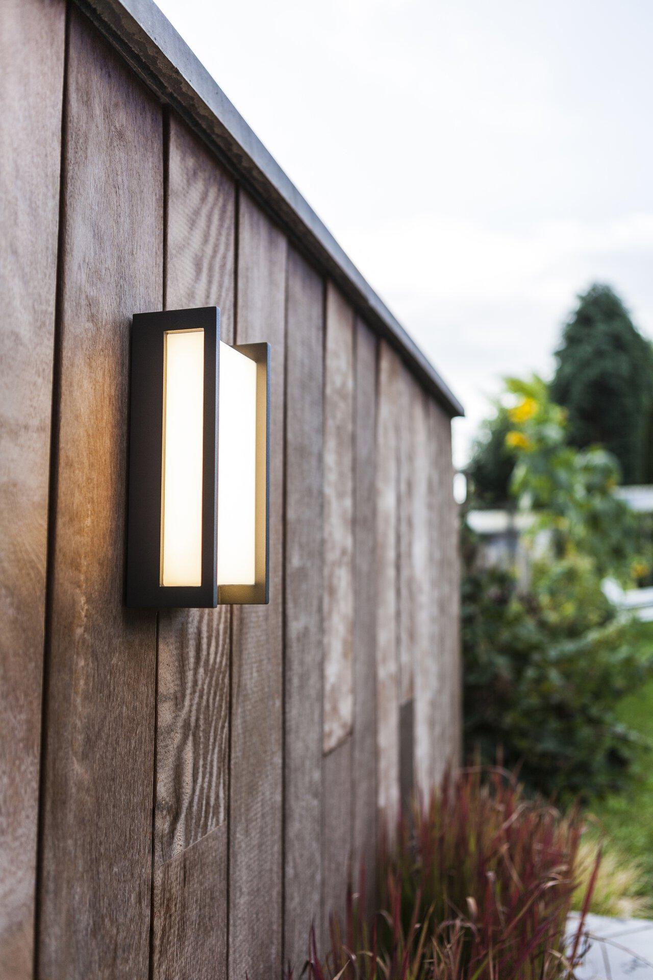 Wand-Aussenleuchte Qubo Eco-Light Metall 11 x 22 x 7 cm