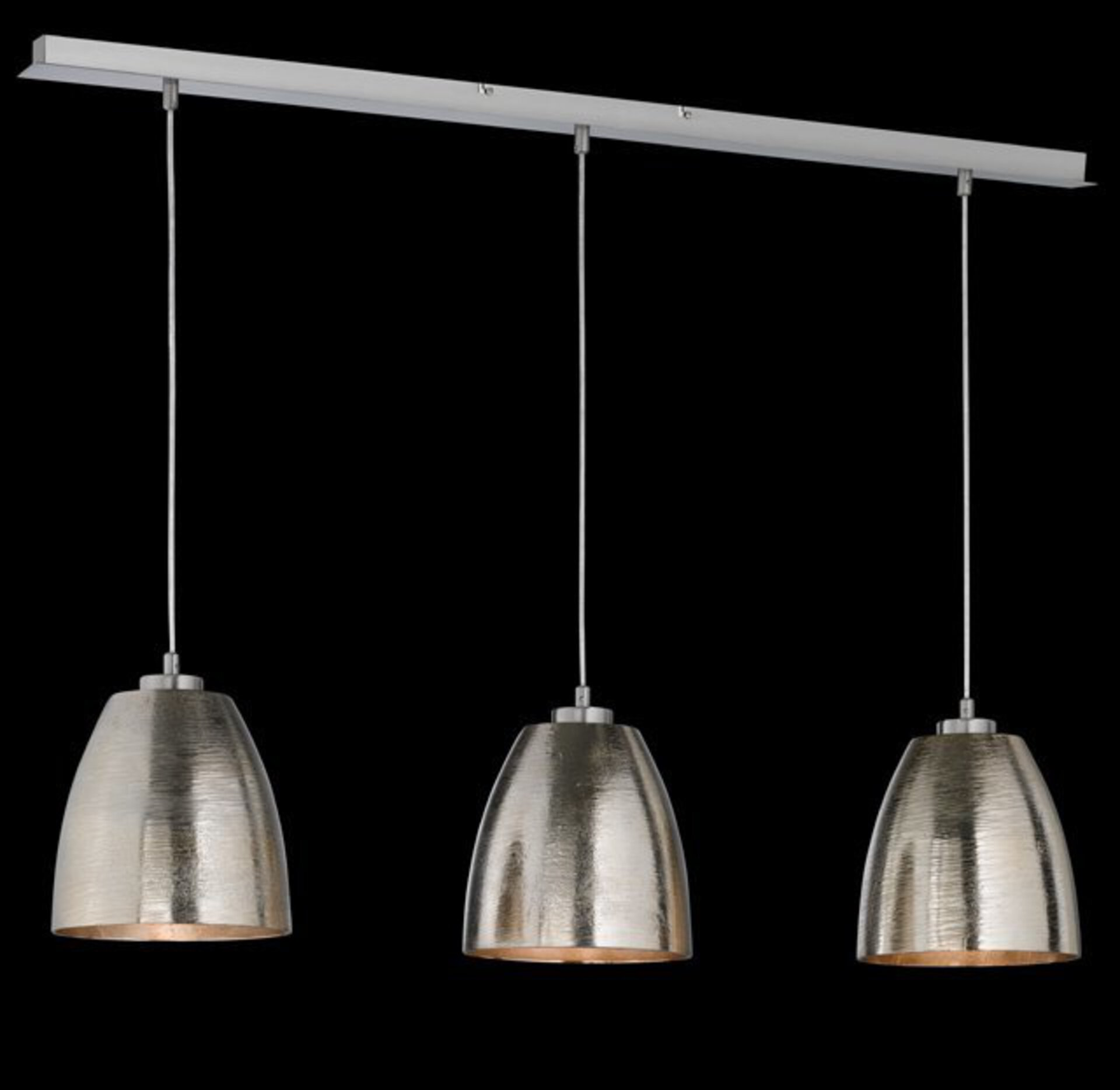 Hängeleuchte Cannes Fischer-Honsel Metall silber 21 x 200 x 107 cm