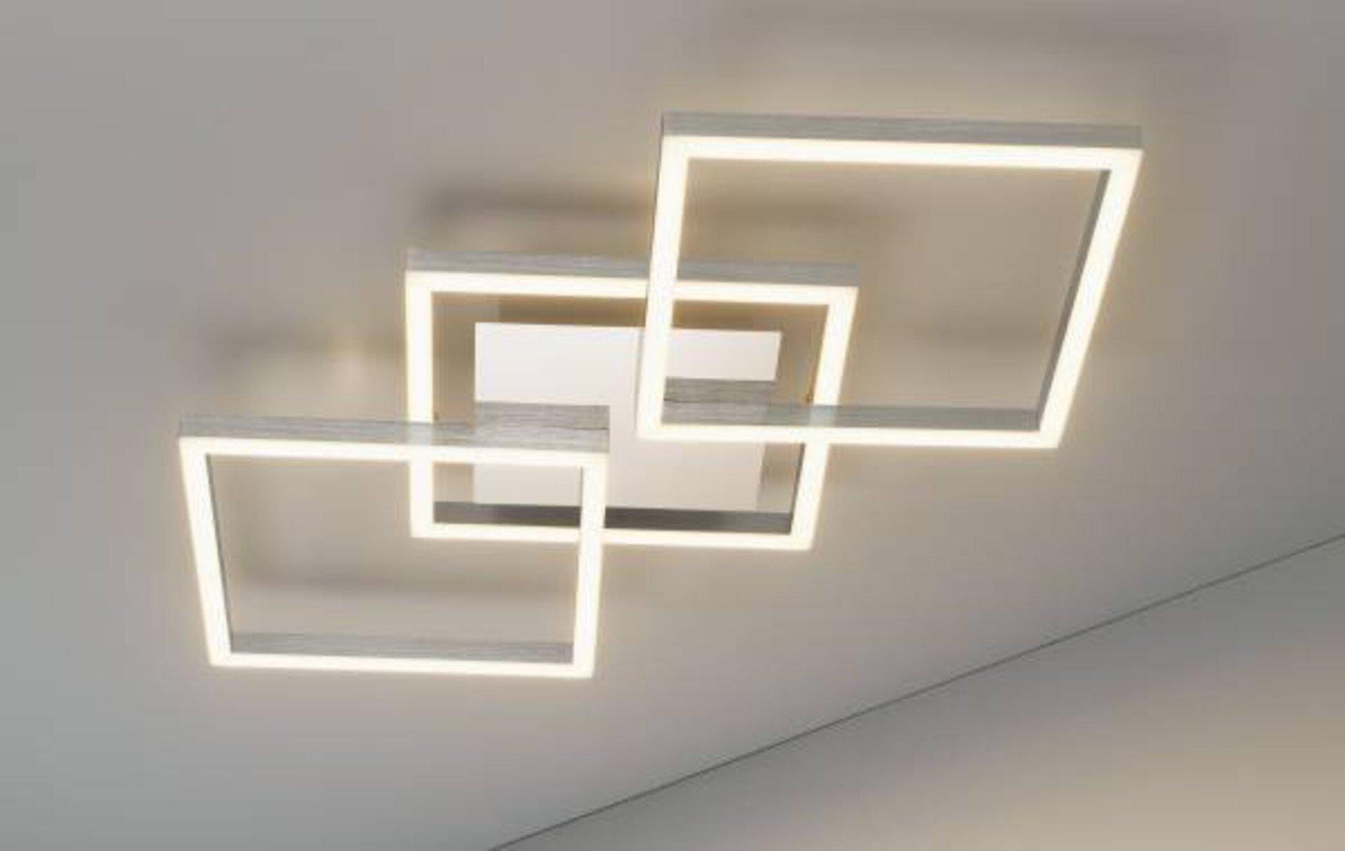 Deckenleuchte Jalu Casa Nova Metall silber 36 x 6 x 75 cm