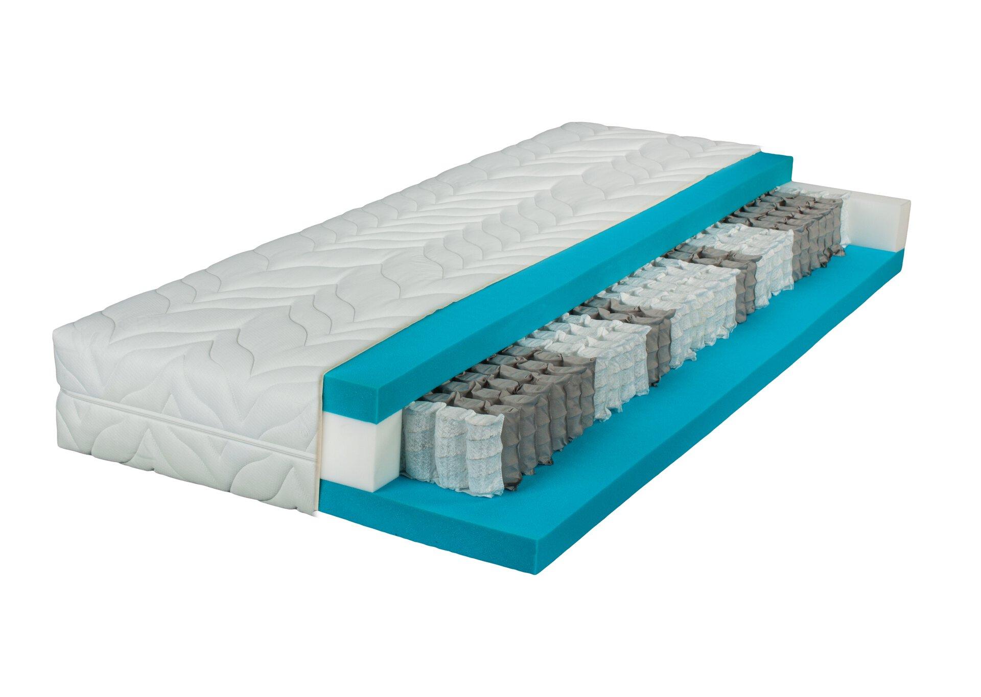 Taschenfederkernmatratze CIELO LIV'IN LIV'IN Textil weiß 200 x 25 x 90 cm