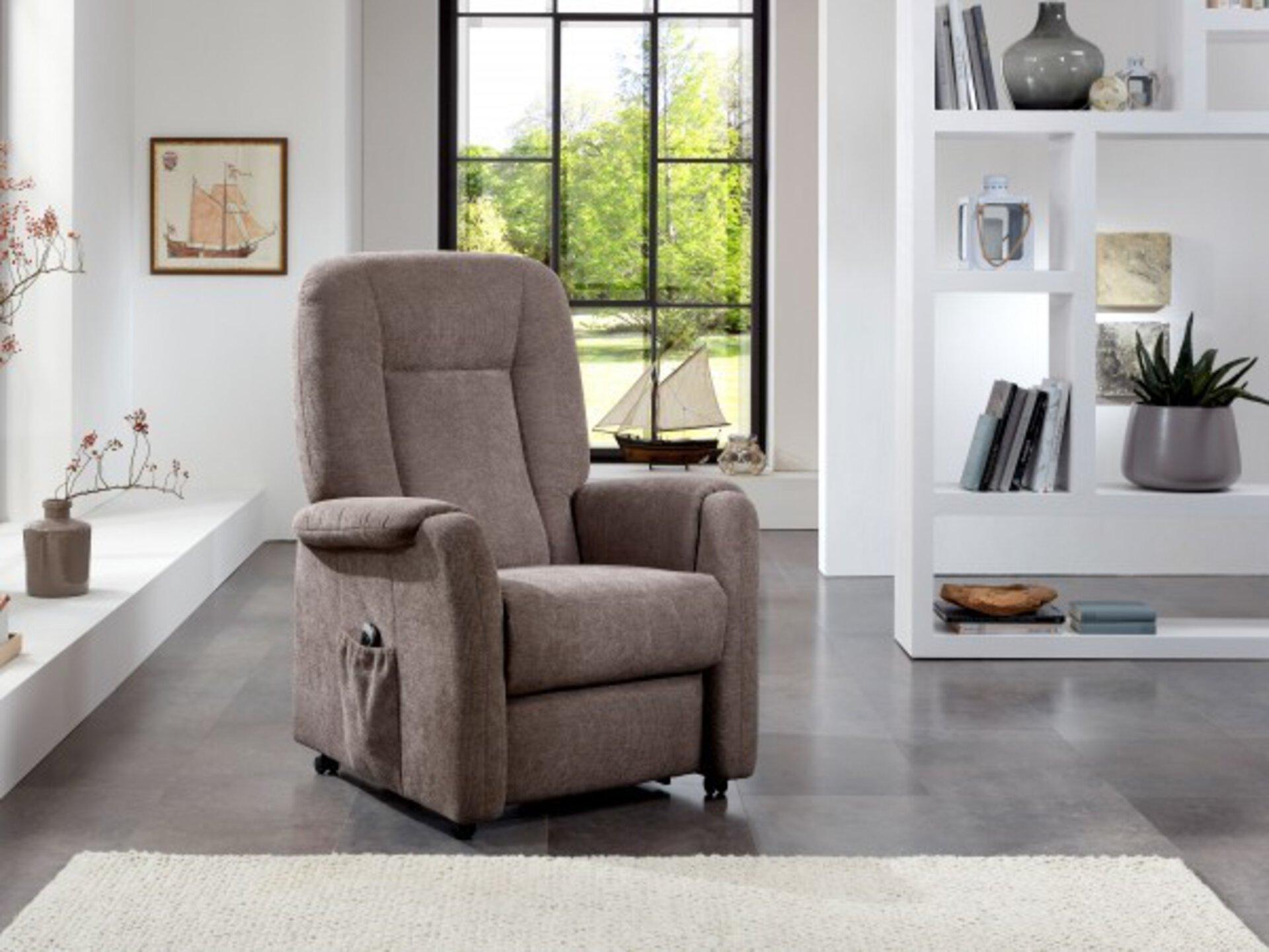 Einzelsessel INTEND LEONIS S BASIC Vito Textil braun 85 x 112 x 86 cm