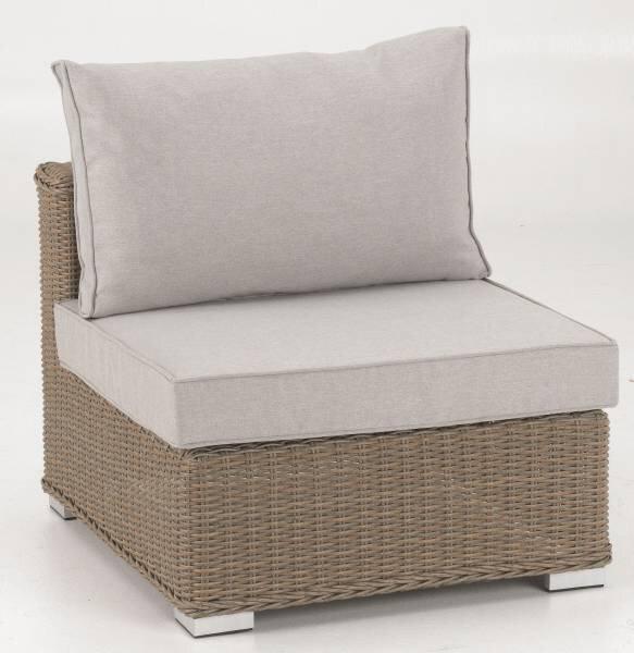 Mittelelement Outdoor Metall, Textil braun ca. 74 cm x 64 cm x 86 cm