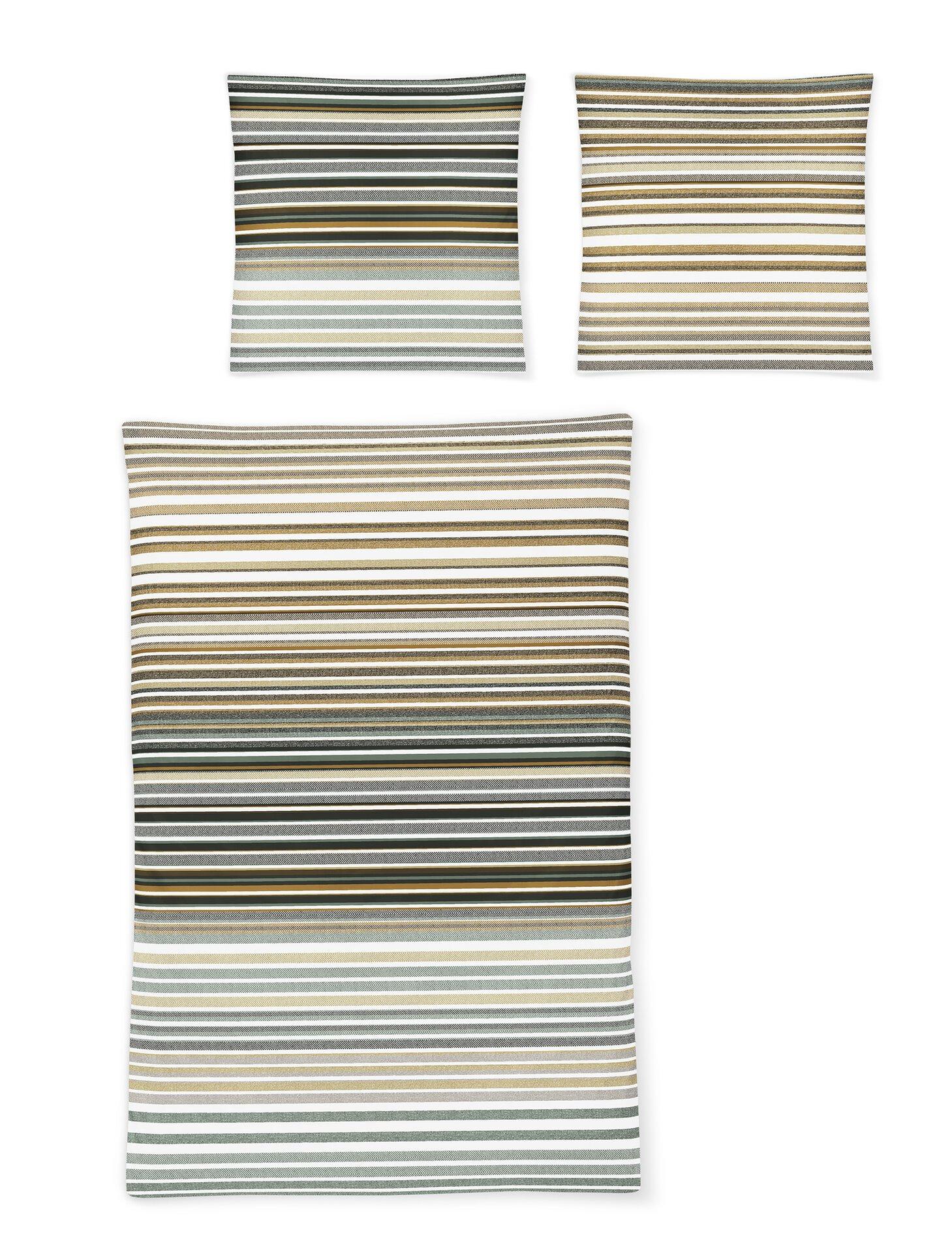 Satin-Bettwäsche Eos Irisette Textil grün 155 x 220 cm