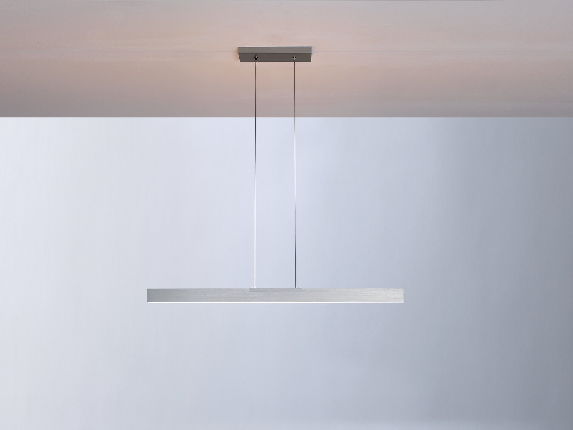 Pendelleuchte NANO Bopp Metall silber 1 x 140 x 101 cm