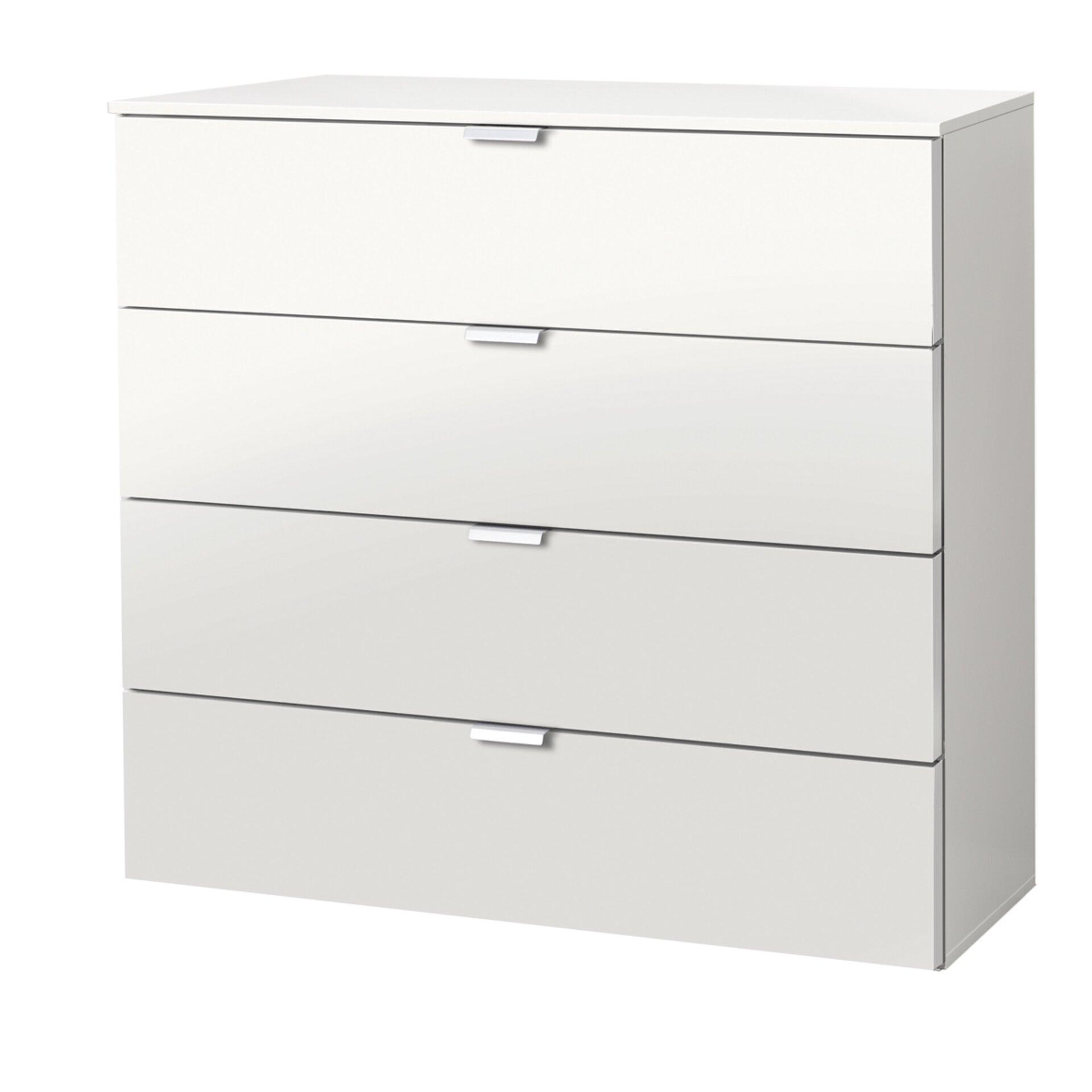 Kommode SANFORD LIV'IN Holzwerkstoff weiß 42 x 80 x 80 cm