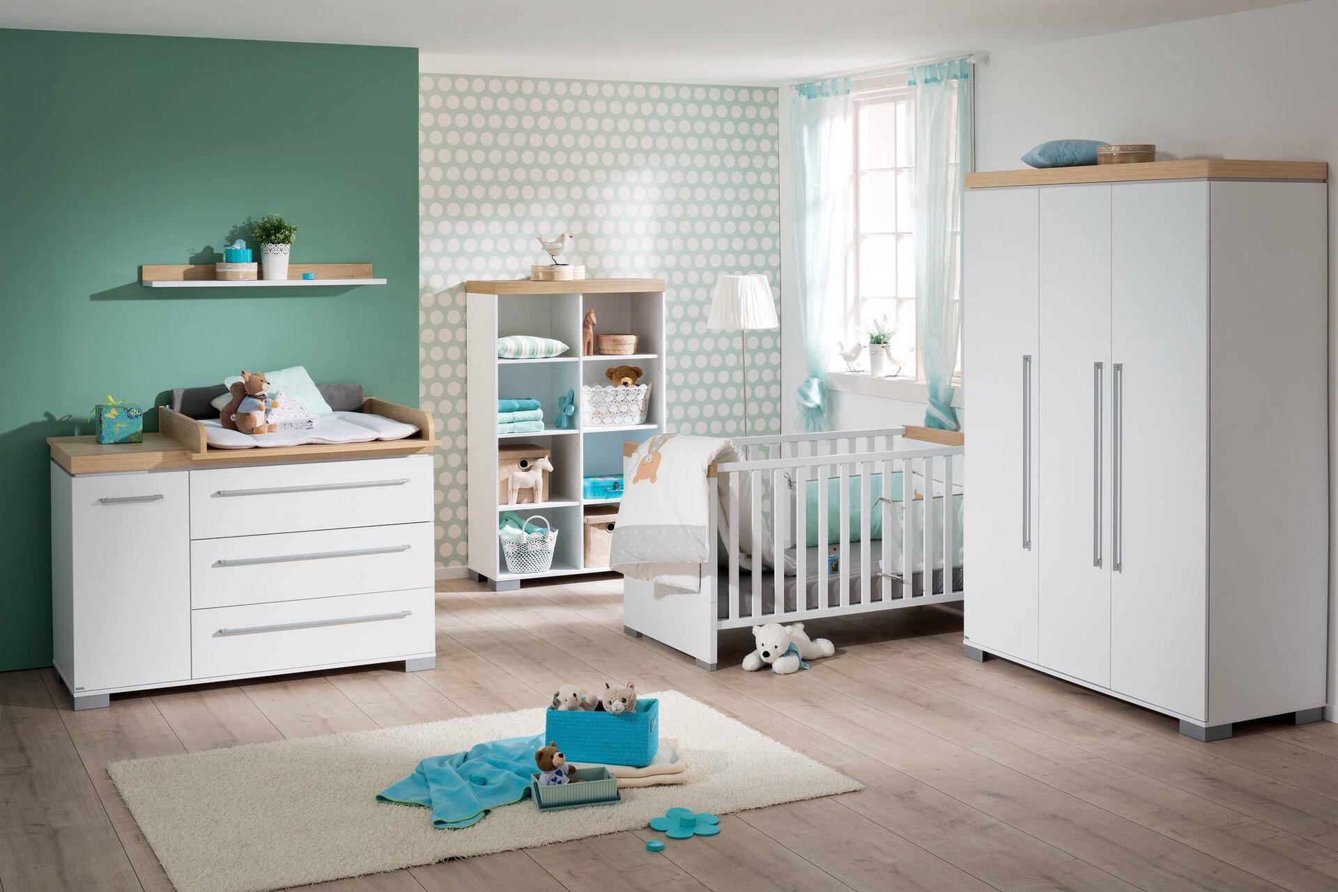 Kinderbett KIRA PAIDI Holzwerkstoff weiß 145 x 79 x 78 cm