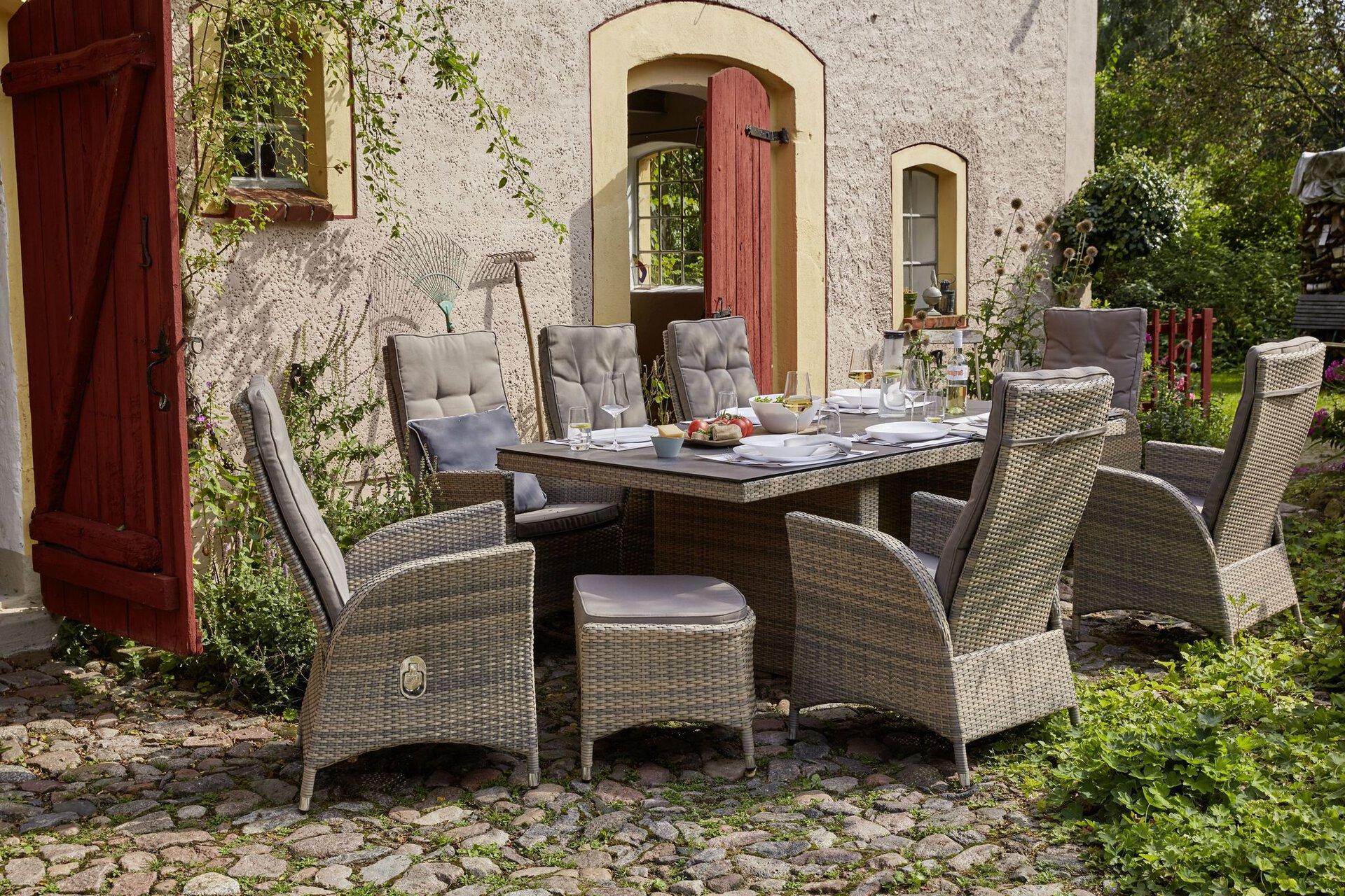 Gartenstuhl DR148204 / Derry Furniture Outdoor Textil grau 62 x 106 x 59 cm