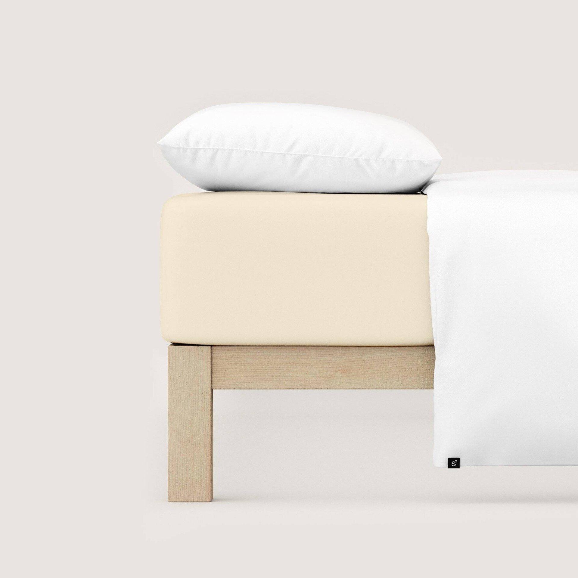 Elastan Jersey-Spannbetttuch Schlafgut Textil beige 150 x 200 cm