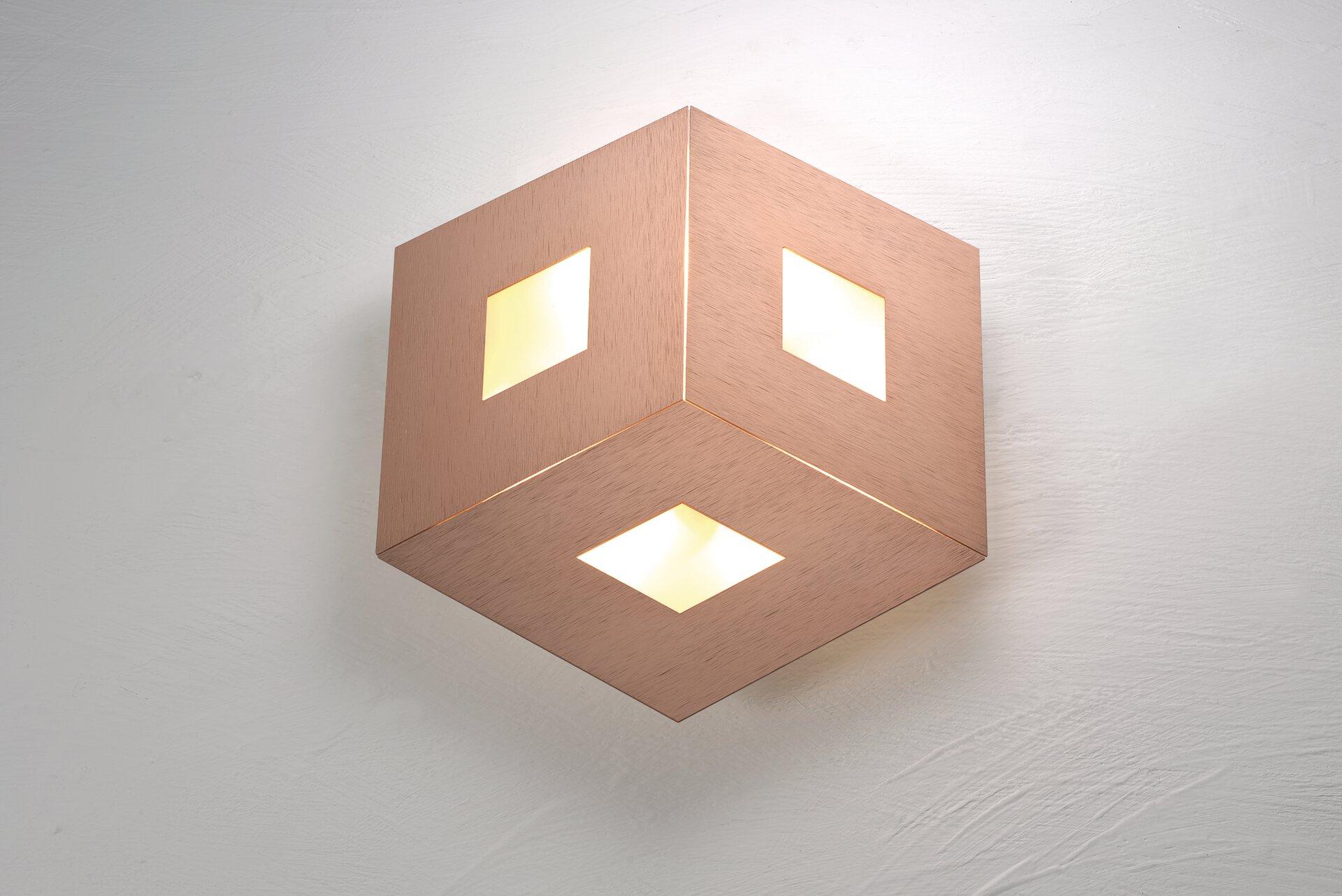 Deckenleuchte BOX COMFORT Bopp Metall gold 35 x 4 x 35 cm