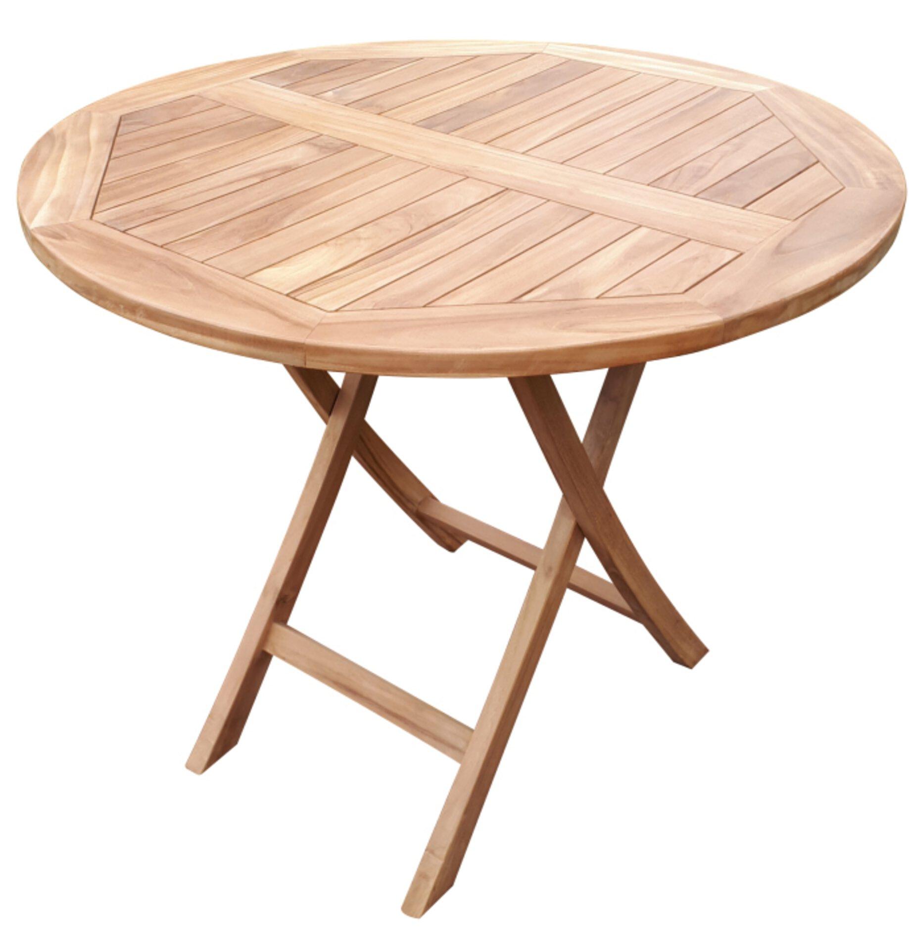 Klapptisch Woodie deVries Holz braun 90 x 75 x 90 cm