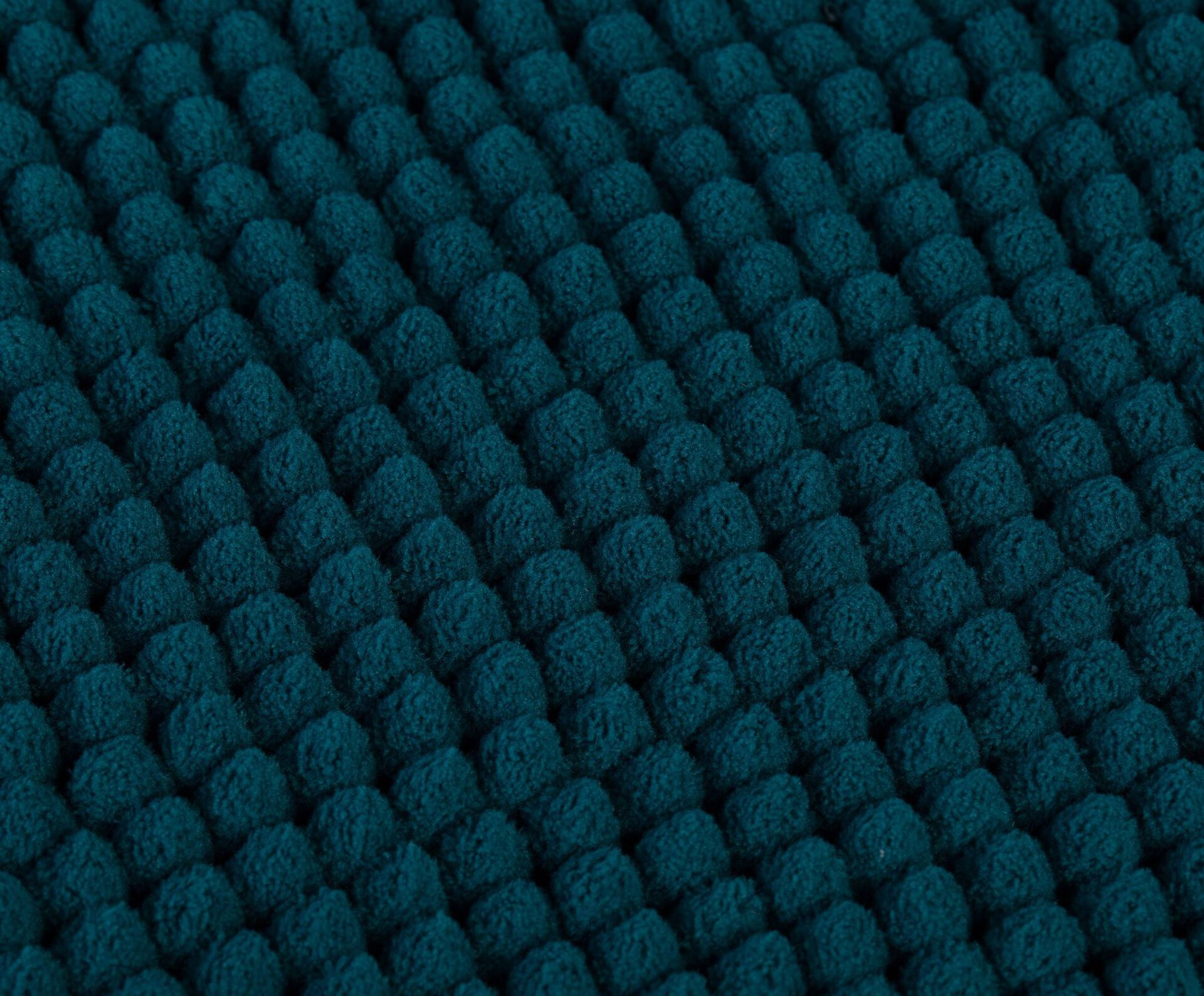Badteppich Chenille Ambiente Trendlife Textil Blau 50 x 70 cm