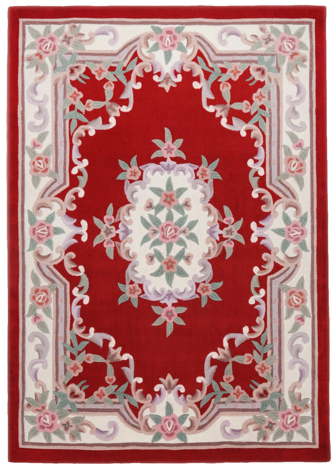 Handtuftteppich Ming Theko Textil rot 1 x 1 cm