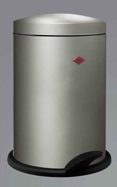 Müllbehälter Wesco Metall neusilber