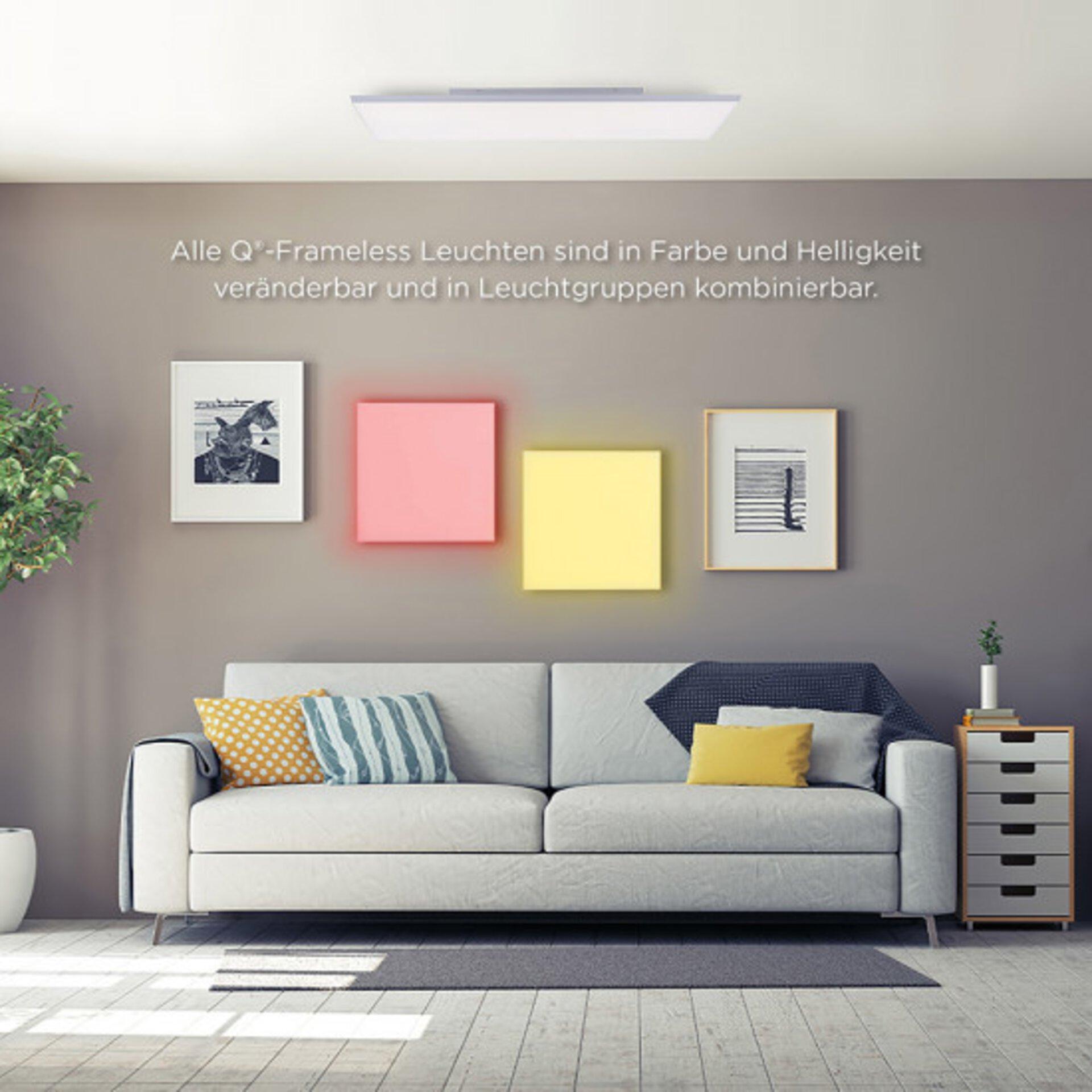 Smart-Home-Leuchten Q-FRAMELESS Paul Neuhaus Metall 45 x 7 x 45 cm