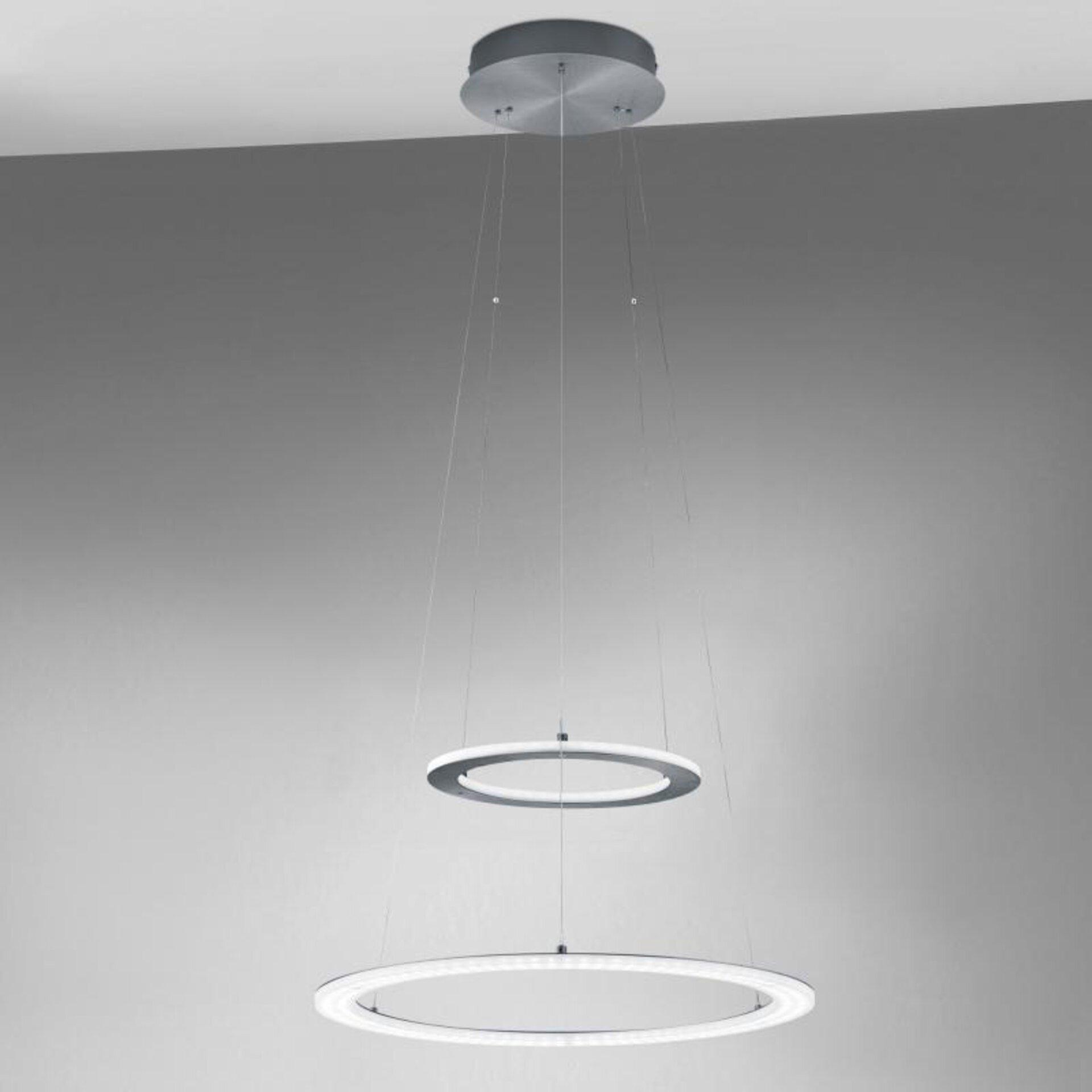 Hängeleuchte Mica B-Leuchten Metall grau 50 x 130 x 50 cm