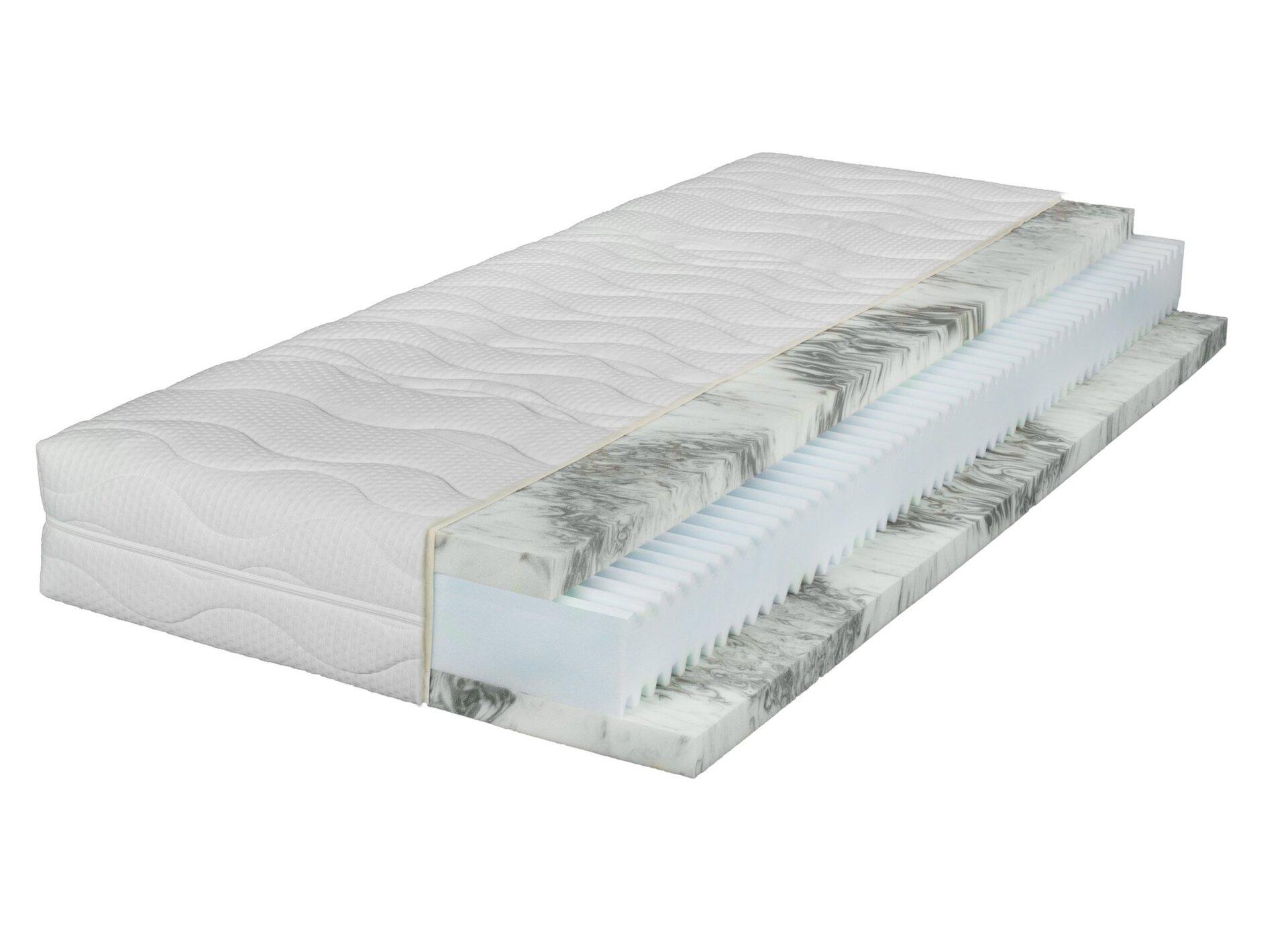 Matratze BELLINZONA LIV'IN LIV'IN Textil weiß 200 x 23 x 90 cm