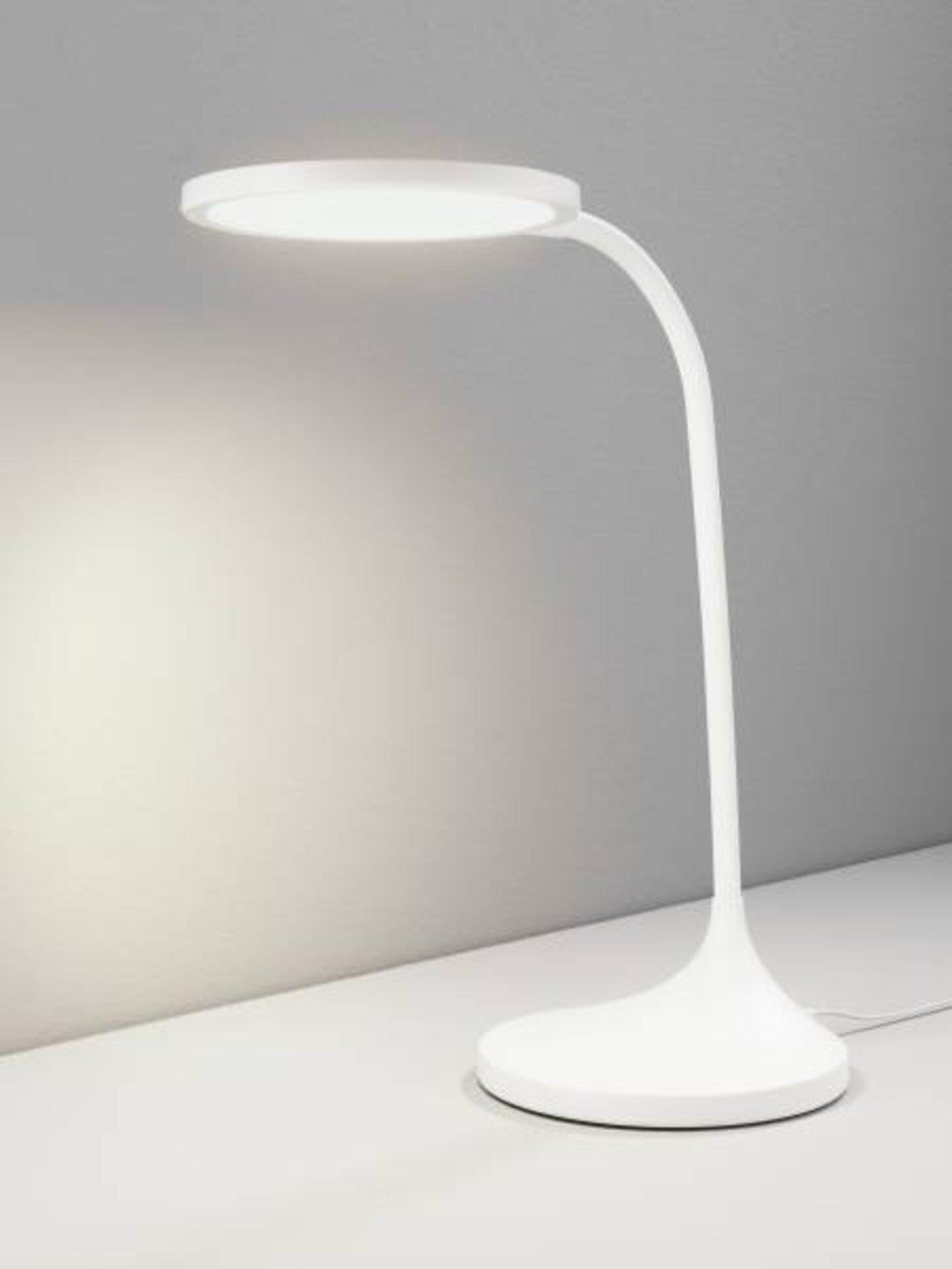Tischleuchte Bright Casa Nova Kunststoff weiß 16 x 60 x 32 cm