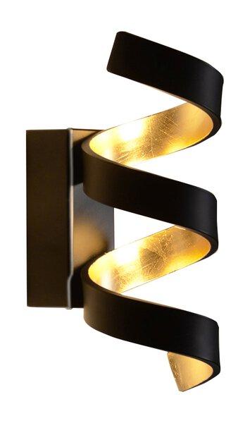 Wandleuchte Eco-Light  Metall schwarz, blattgold ca. 10 cm x 26 cm x 13 cm