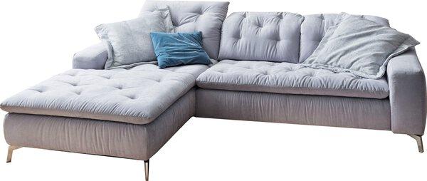 Polstergarnitur LASCONDO Textil Matrix light blue