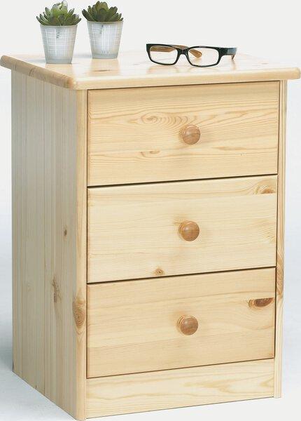 Kommode Dreamoro Holzwerkstoff Kiefer massiv natur lackiert ca. 35 cm x 57 cm x 42 cm