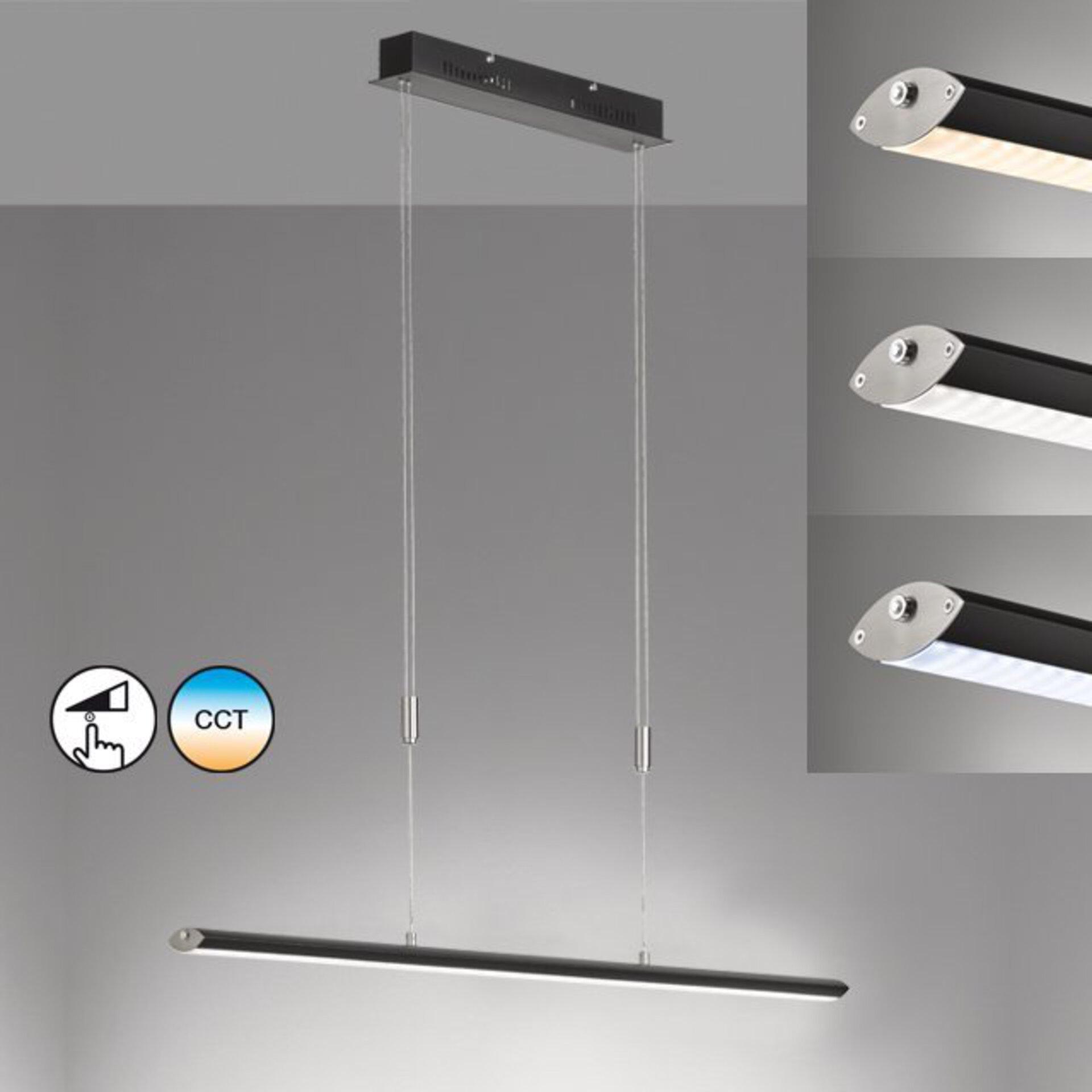 Hängeleuchte Beat TW Fischer-Honsel Metall schwarz 8 x 160 x 85 cm