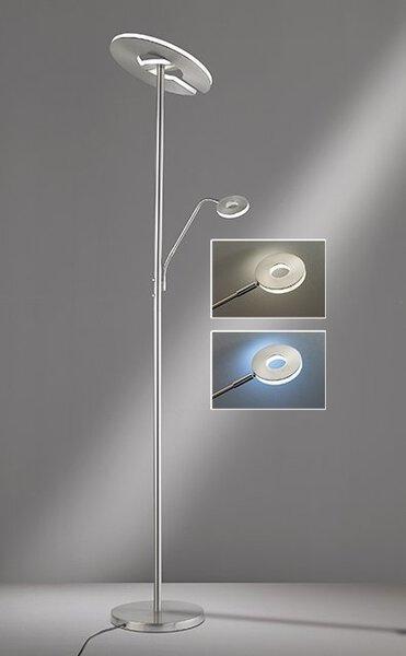 Stehleuchte Fischer-Honsel  Metall nickel, chrom ca. 35 cm x 180 cm x 35 cm
