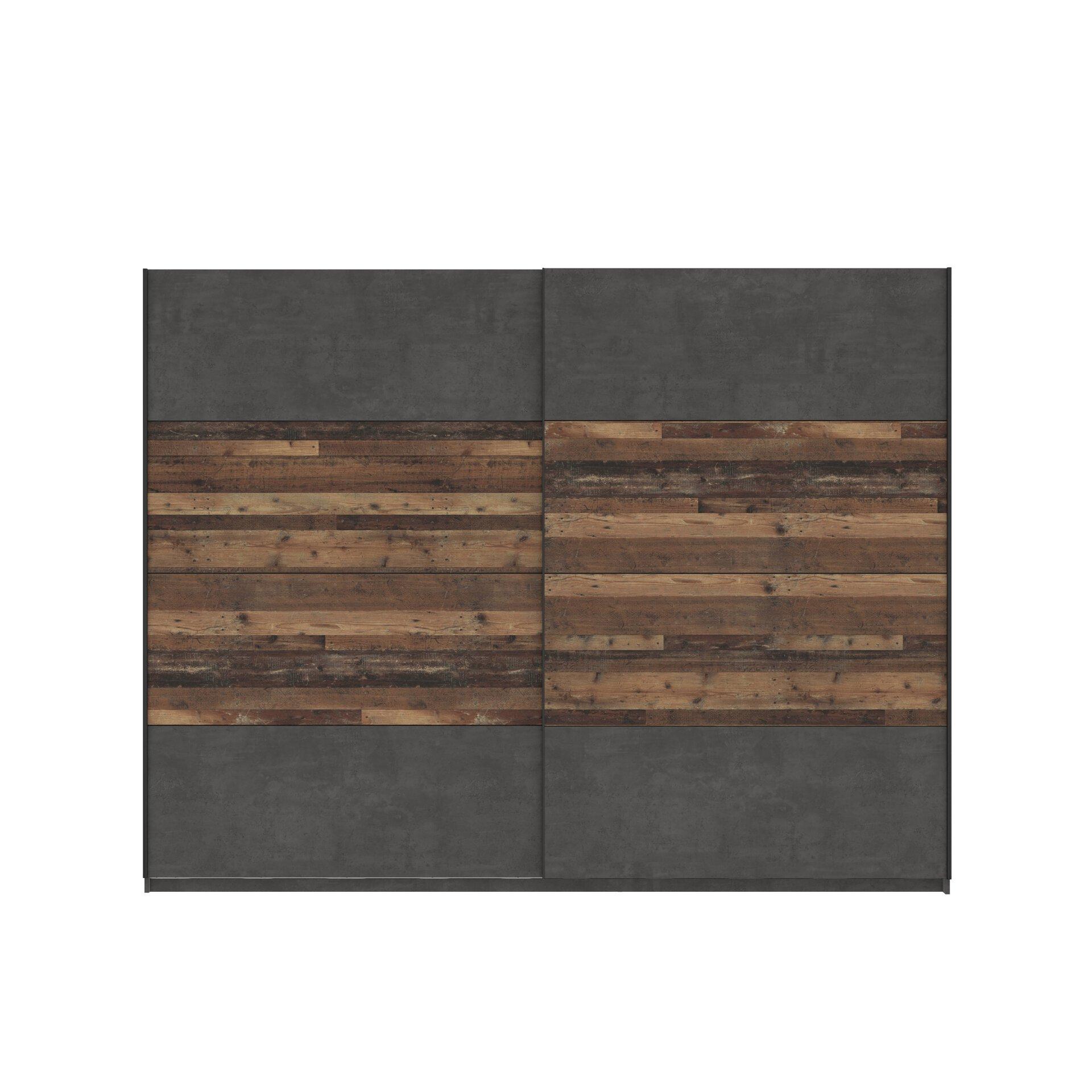 Schwebetürenschrank Neapel 2 Forte Holzwerkstoff braun 62 x 210 x 270 cm