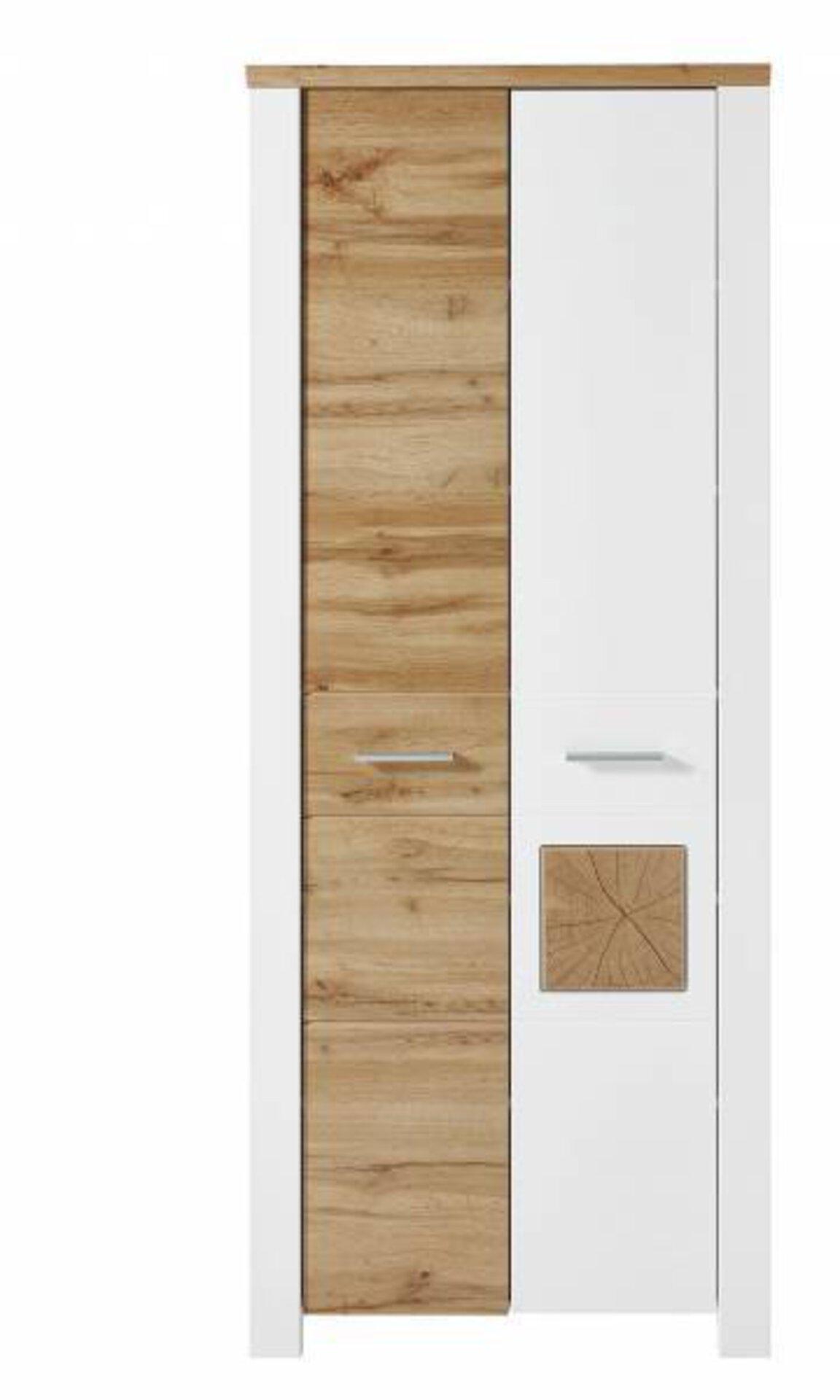 Garderobenschrank MATERIO Vito Holzwerkstoff mehrfarbig 39 x 200 x 80 cm