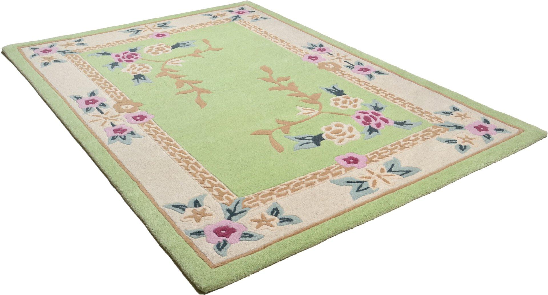 Handtuftteppich Lifou Theko Textil grün 1 x 2 cm
