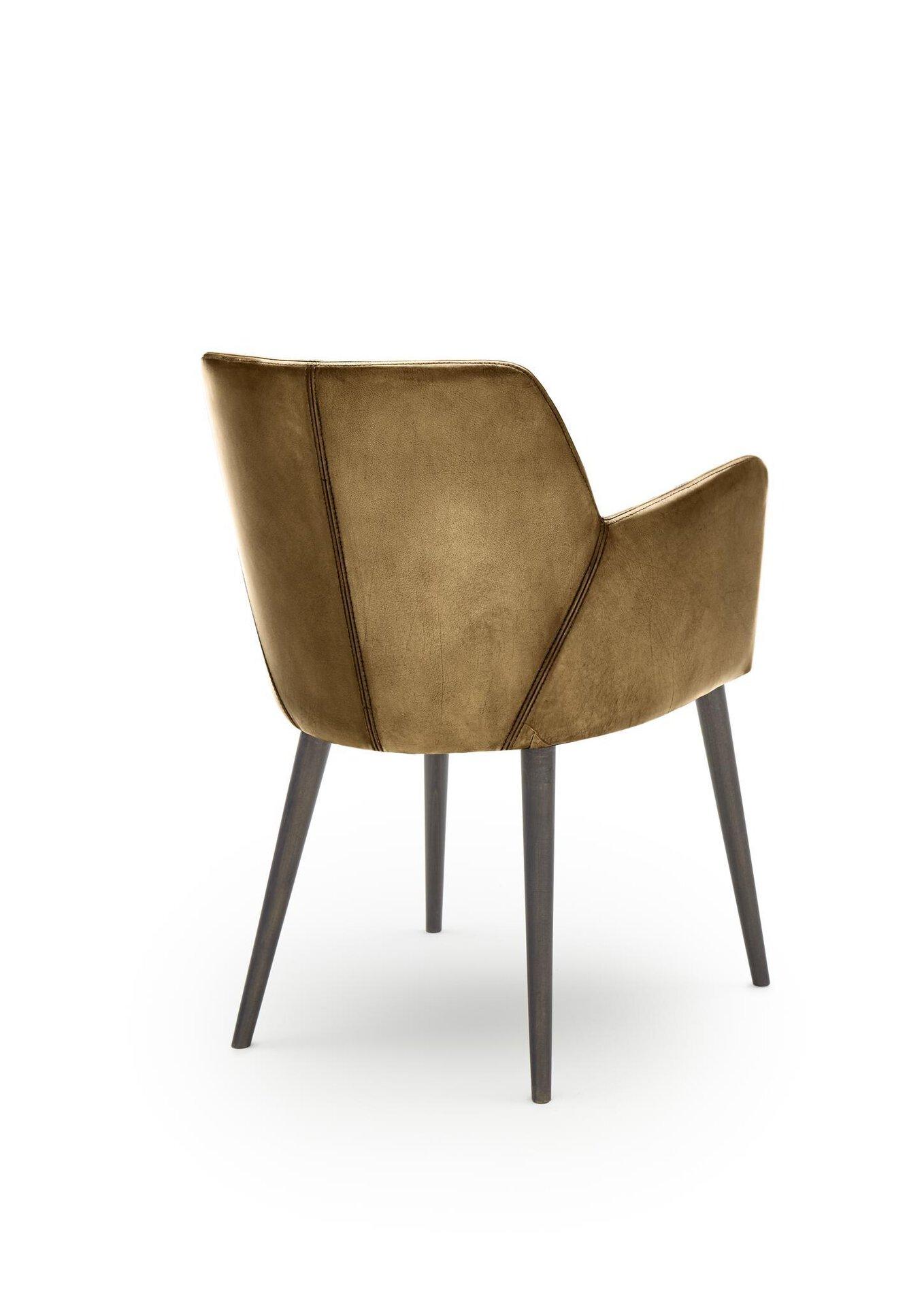 4-Fuß-Stuhl WK7005 Stuart WK Wohnen Edition Leder braun 57 x 83 x 59 cm