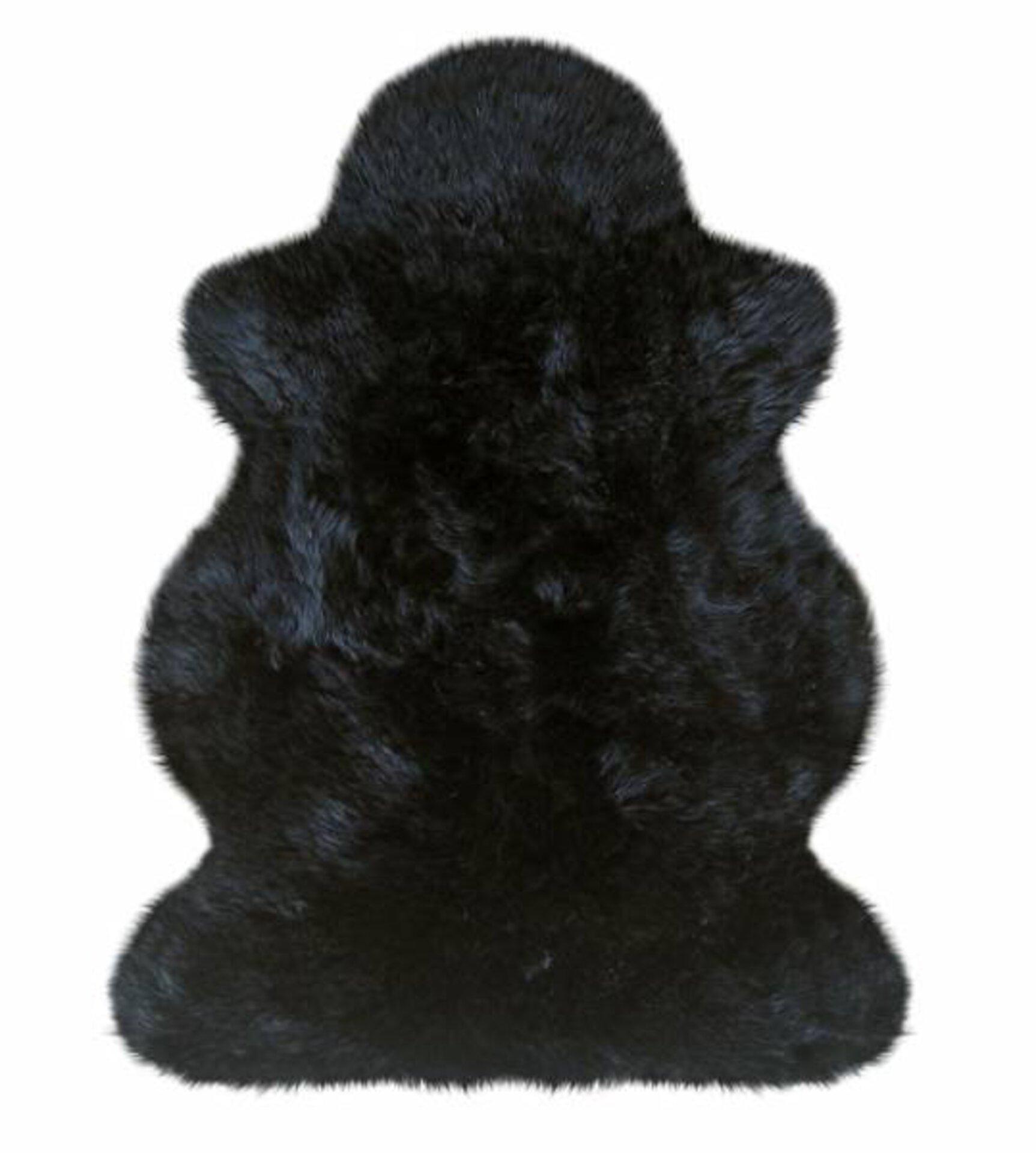 Fellteppich Heitmann-Felle Textil schwarz