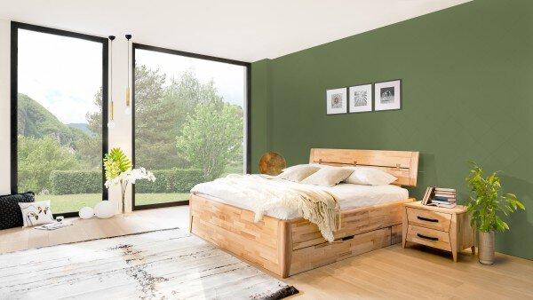 Bett VALMONDO Holz Kernbuche geölt ca. 2 cm x 2 cm x 2 cm
