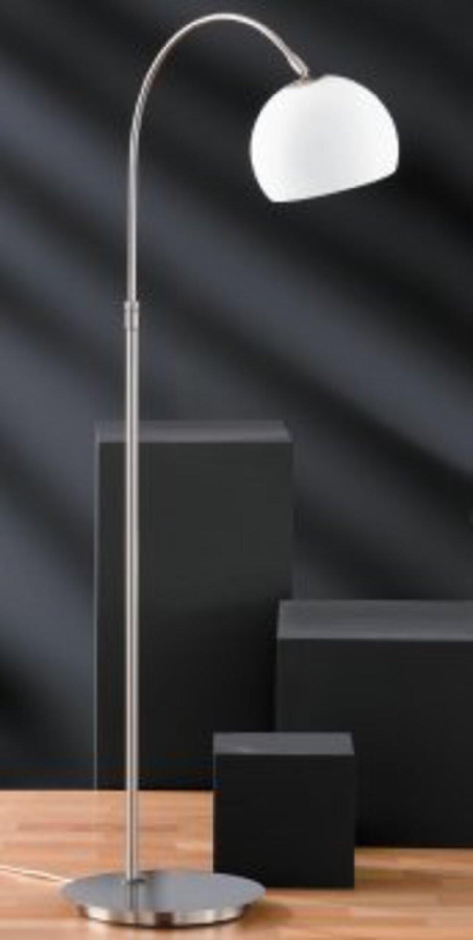 Stehleuchte Bow Fischer-Honsel Metall silber 140 x 49 cm