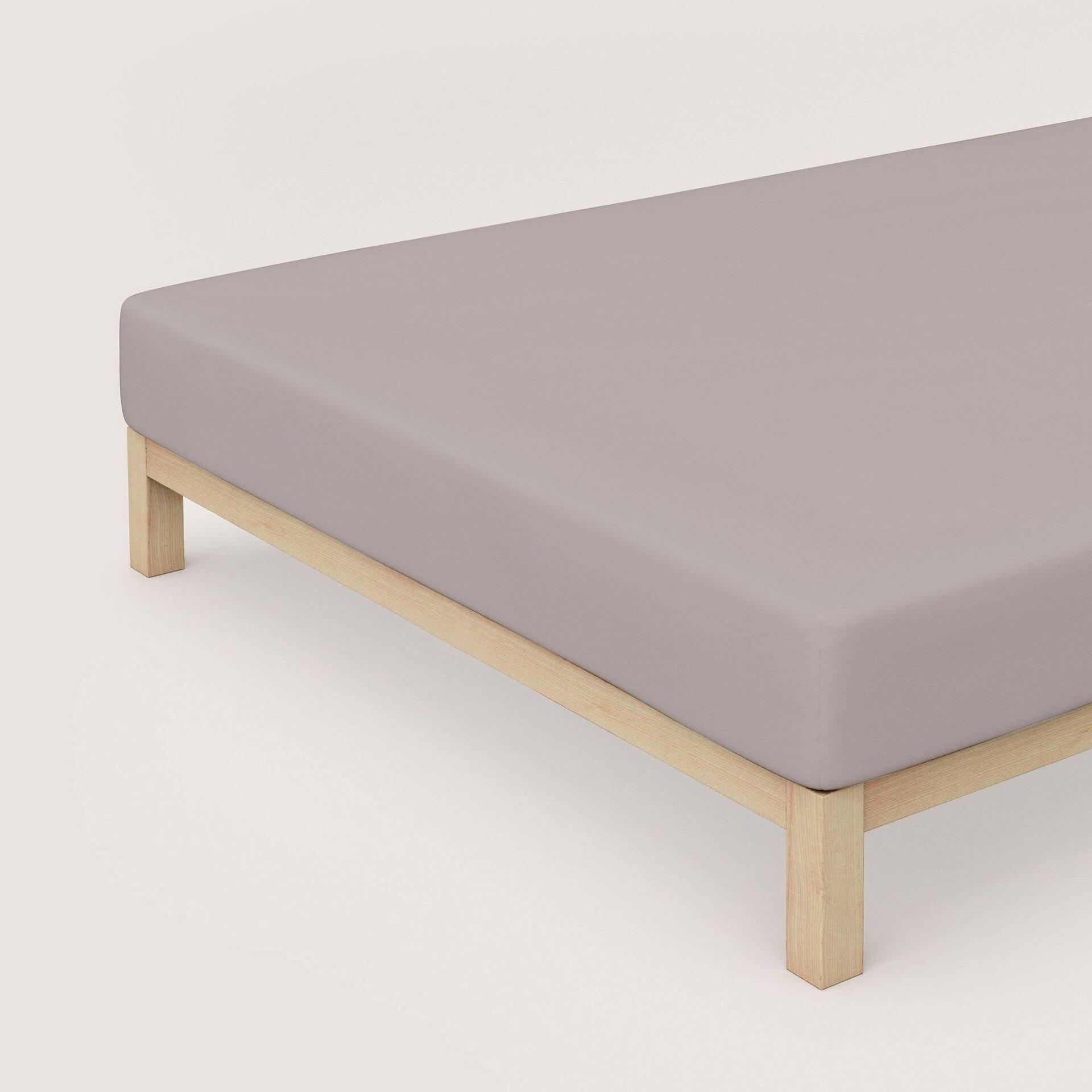 Elastan Jersey-Spannbetttuch Schlafgut Textil beige 100 x 200 cm