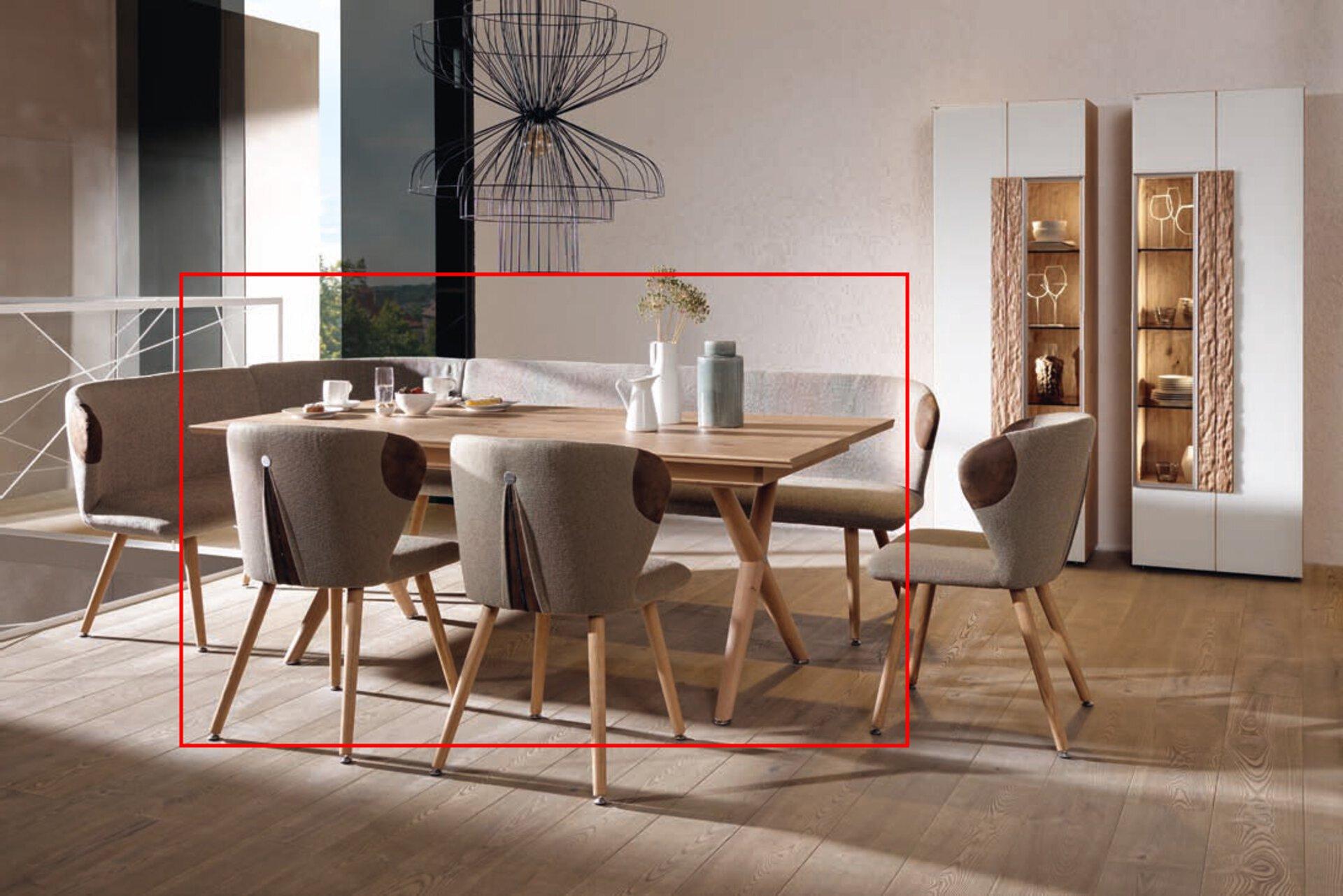 Esstisch V-ALPIN Voglauer Holzwerkstoff mehrfarbig 100 x 76 x 180 cm