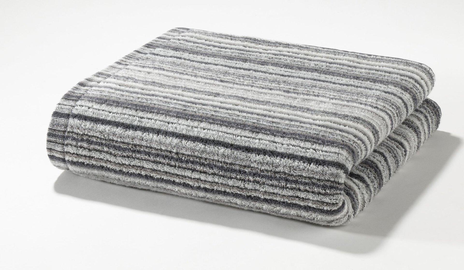 Duschtuch Autumnstripes Casa Nova Textil silber