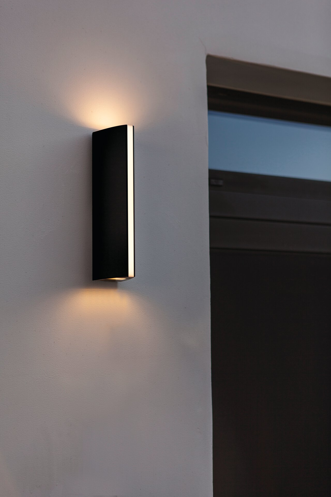 Wand-Aussenleuchte Leo Eco-Light Metall grau 7 x 30 x 9 cm