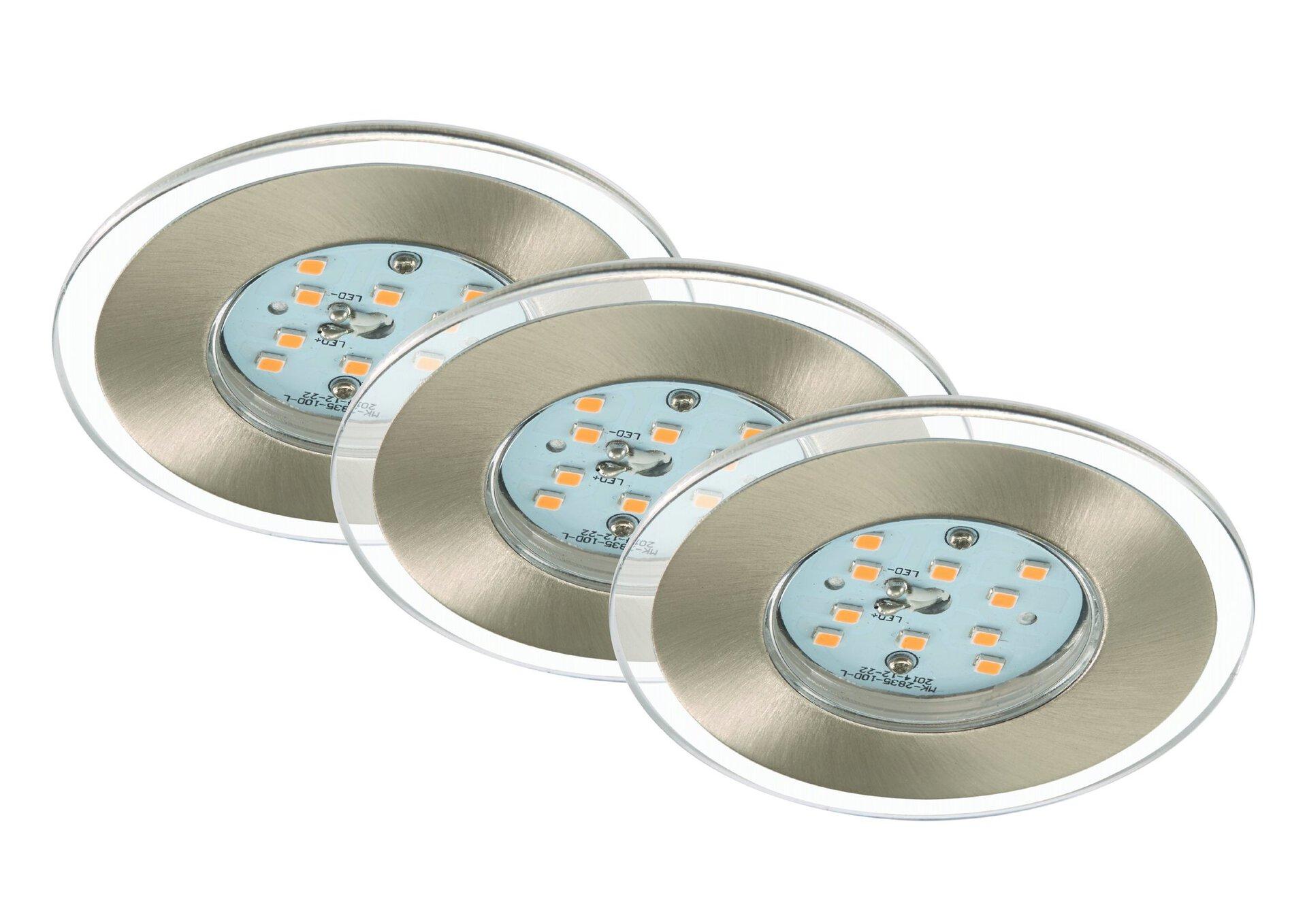 Einbauspot Attach Briloner Metall silber 8 x 4 x 8 cm