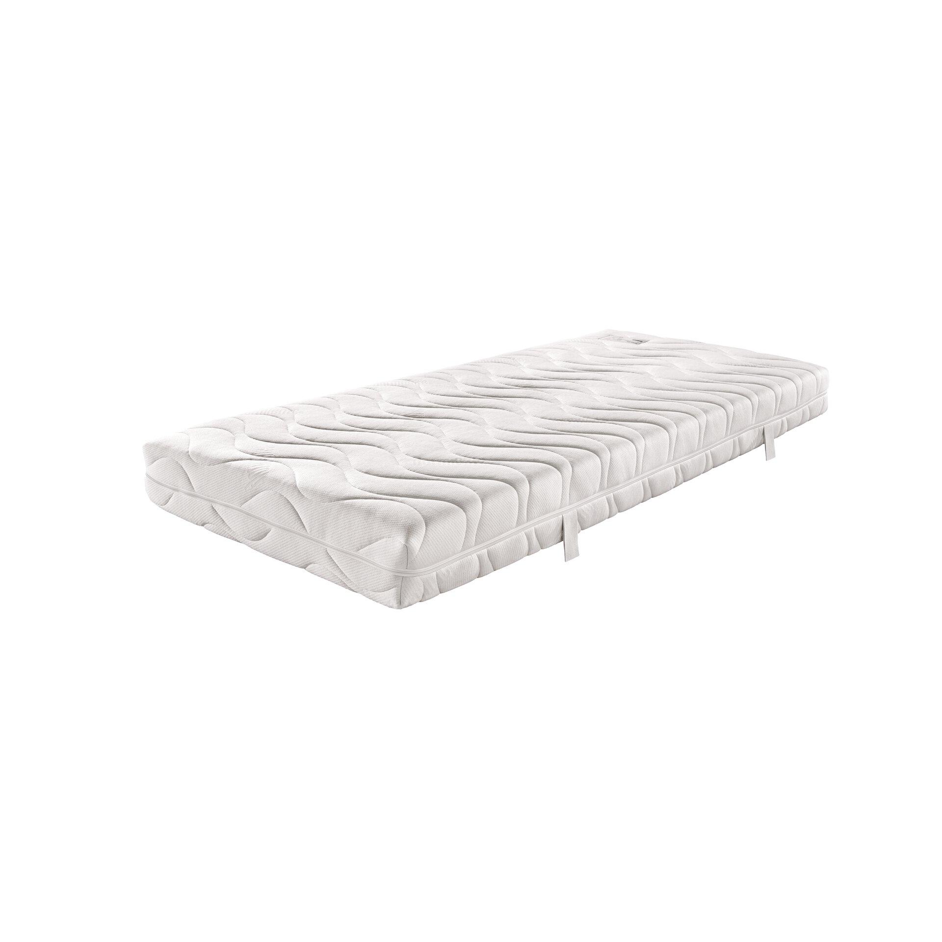 Matratze OPAL PLUS VALMONDO Textil weiß 90 x 14 x 200 cm