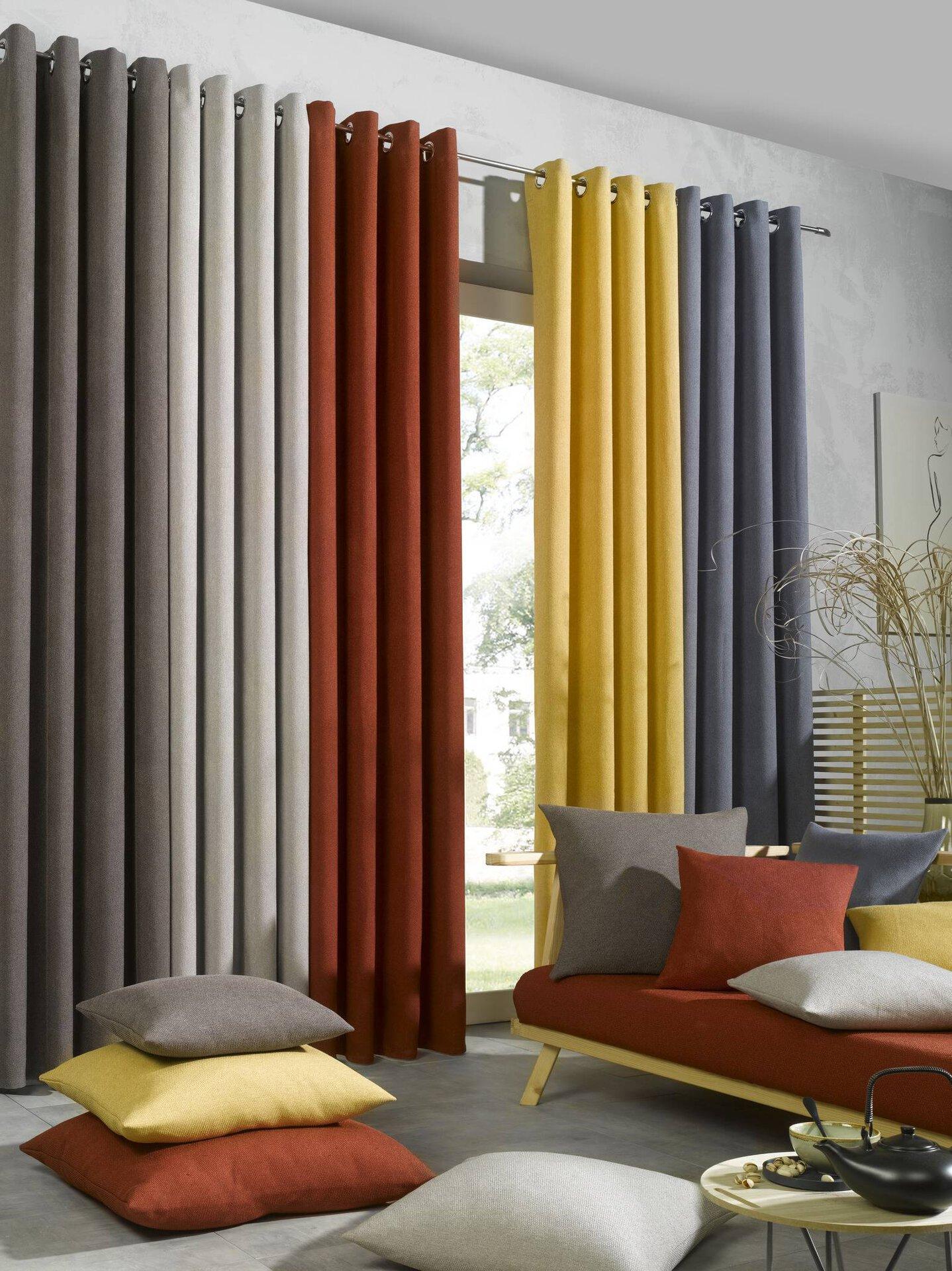 Ösenschal Fabricio Ambiente Trendlife Textil beige 2 cm