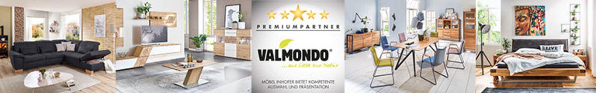 Bannerbild der Marke Valmondo.  Premiumpartner von Möbel Inhofer.