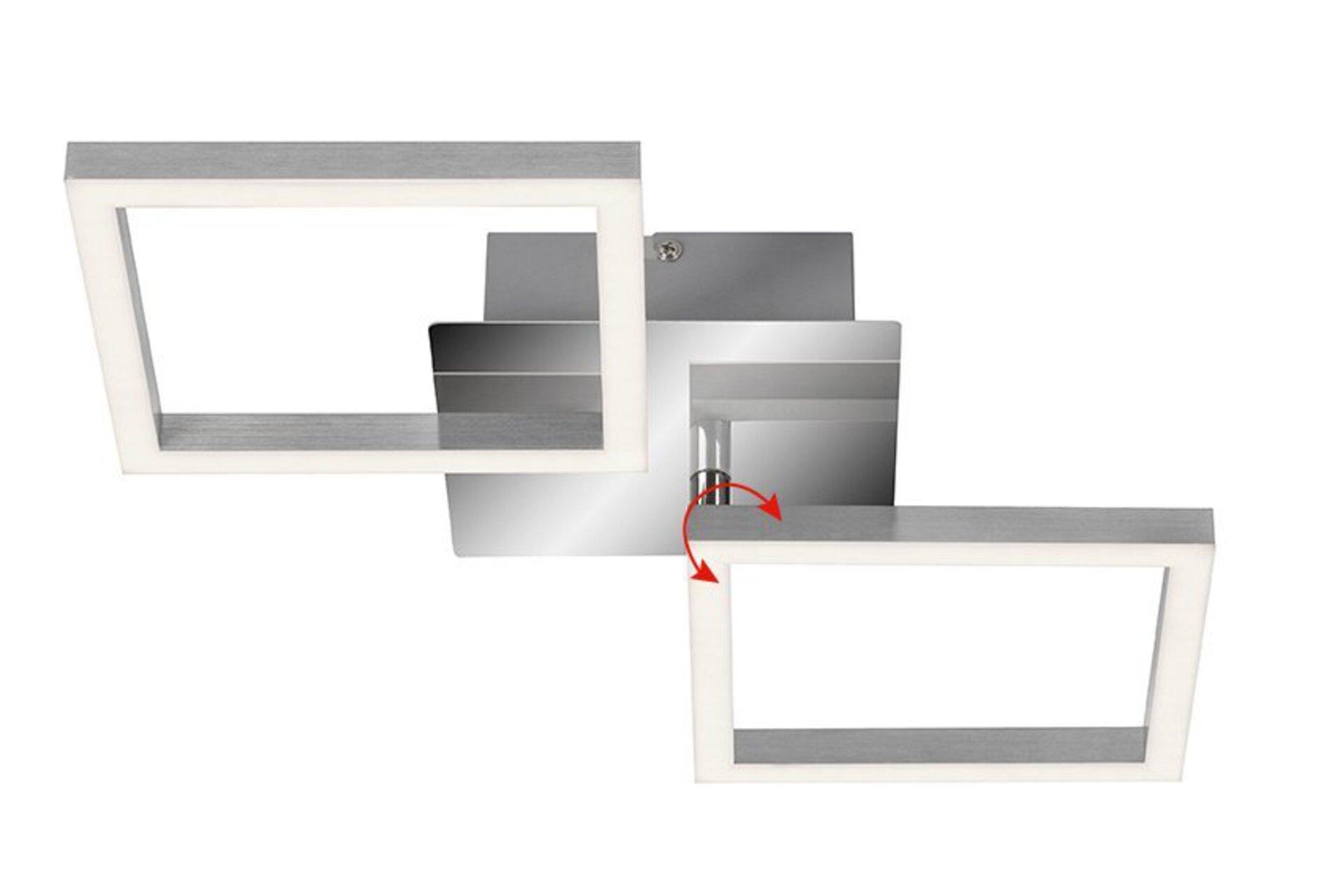 Deckenleuchte Frame Briloner Metall silber 23 x 7 x 47 cm