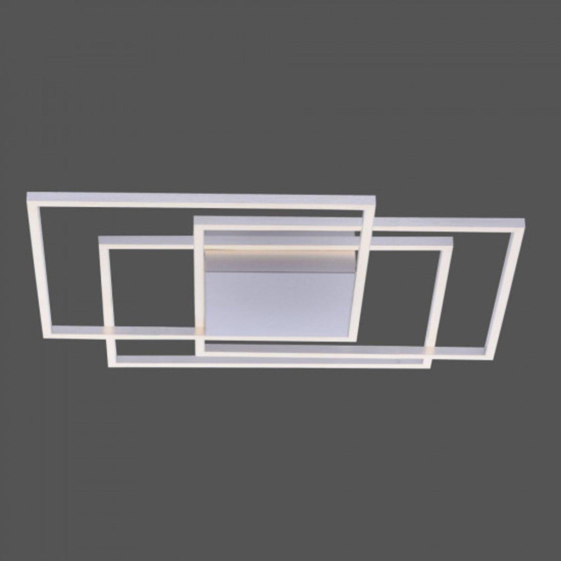 Deckenleuchte INIGO Paul Neuhaus Metall silber 75 x 7 x 75 cm