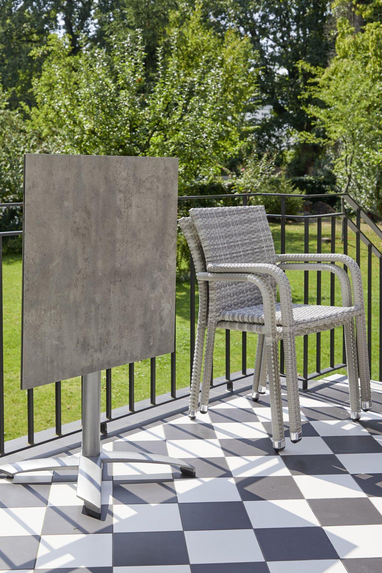 Stapelstuhl PARMA Outdoor Metall 57 x 83 x 61 cm