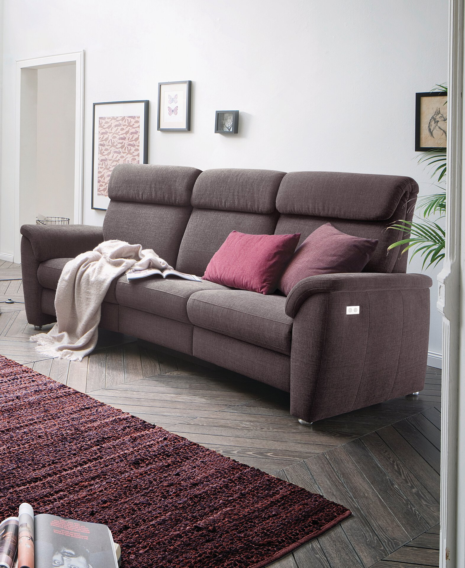 Sofa 3-Sitzer VOLLEY Vito Textil grau