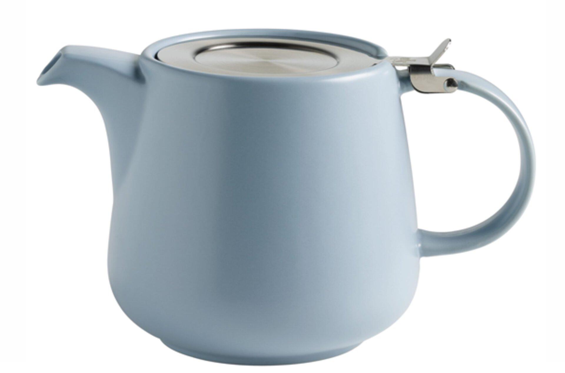 hellblaue Teekanne