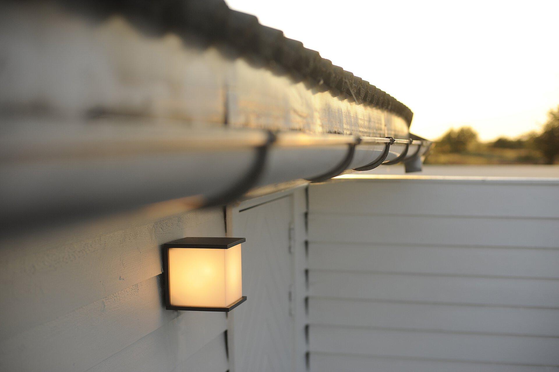 Wand-Aussenleuchte BOX CUBE Eco-Light Metall 17 x 17 x 17 cm